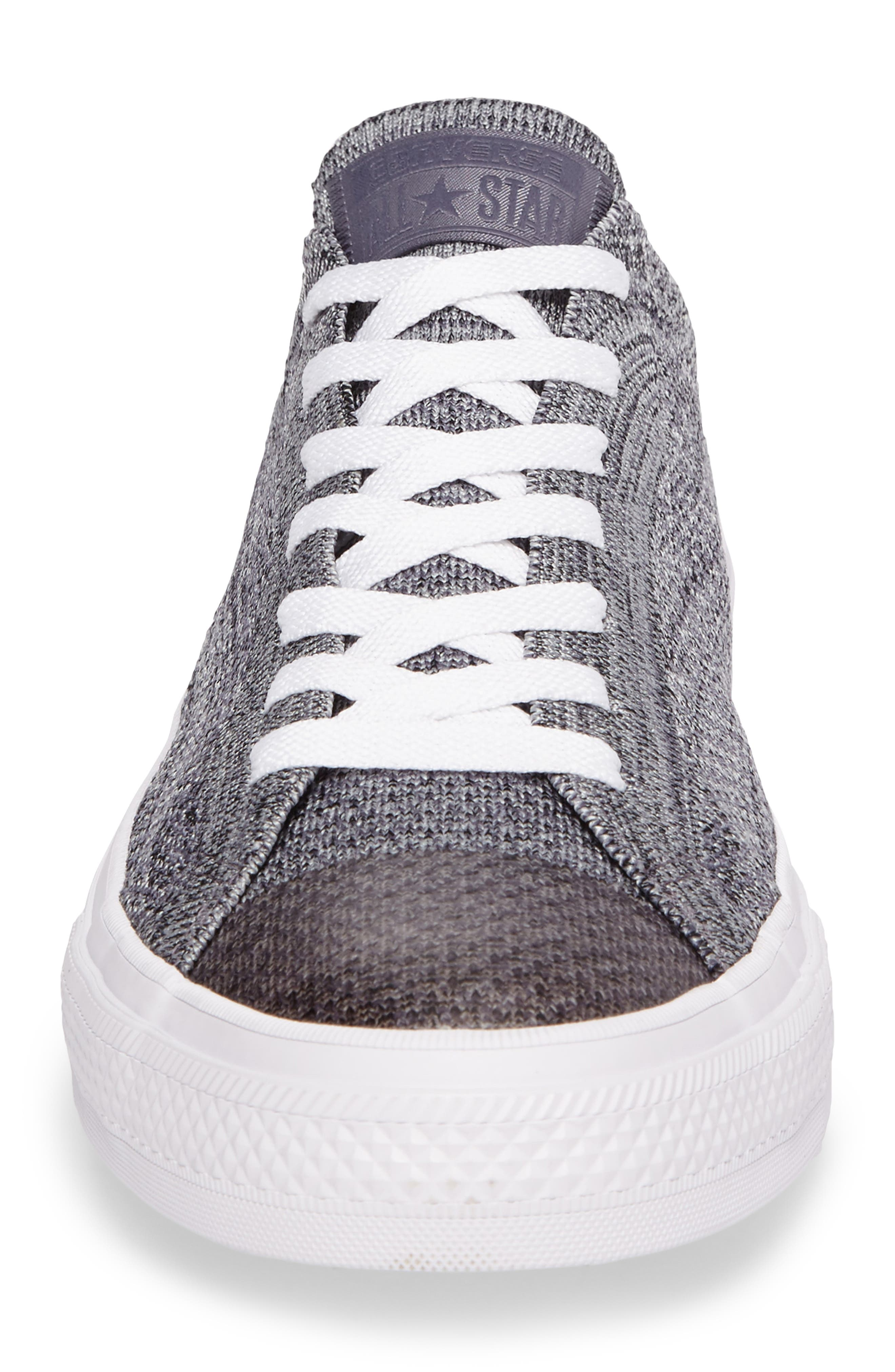 Chuck Taylor<sup>®</sup> All Star<sup>®</sup> Flyknit Sneaker,                             Alternate thumbnail 4, color,                             Carbon