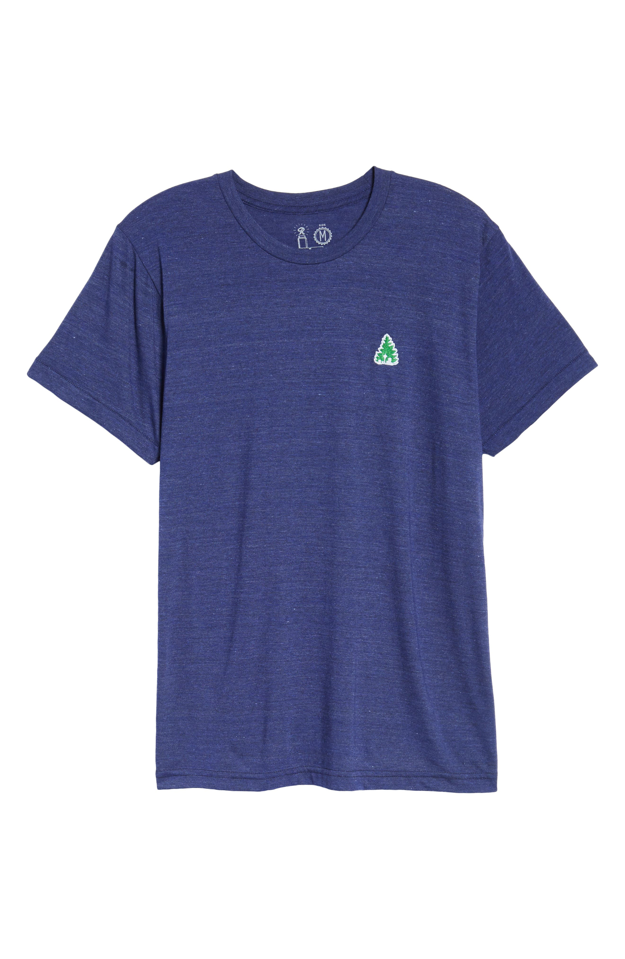 Johnny Tree Embroidered T-Shirt,                             Alternate thumbnail 6, color,                             Blue