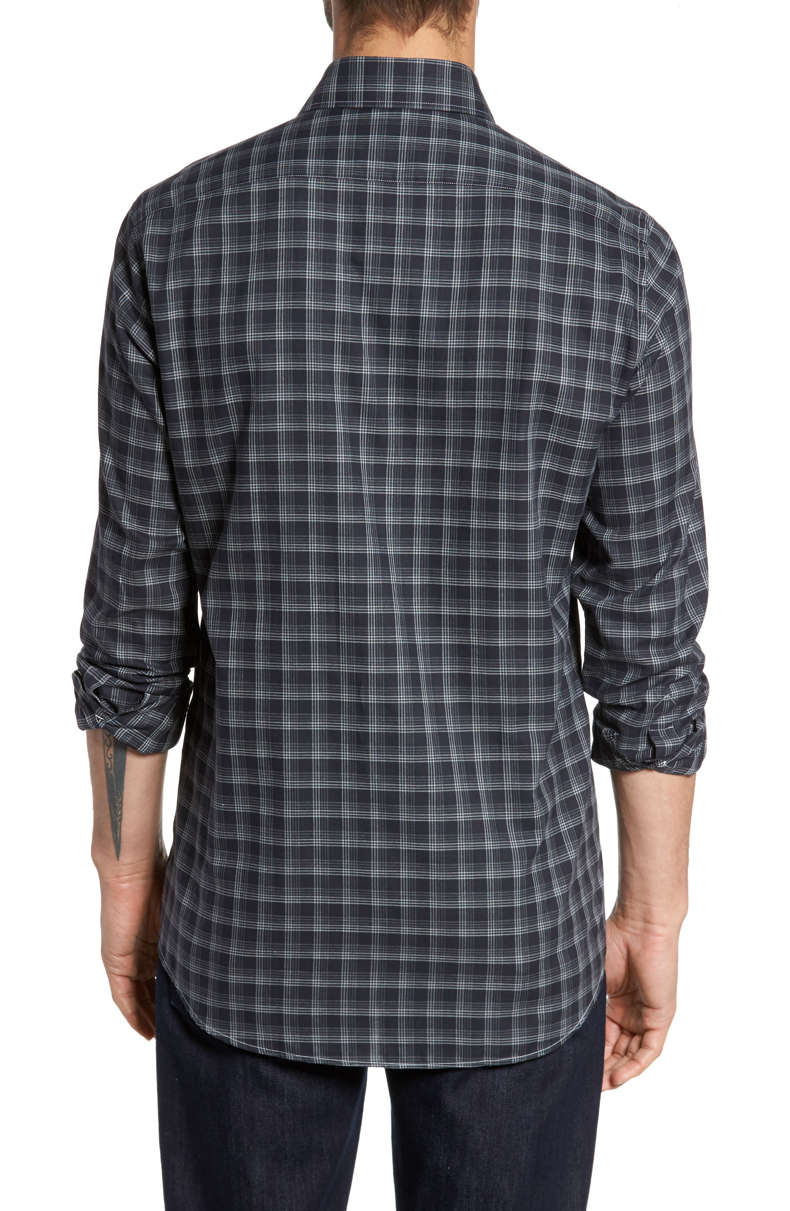 Alternate Image 2  - Luciano Barbera Classic Fit Plaid Sport Shirt