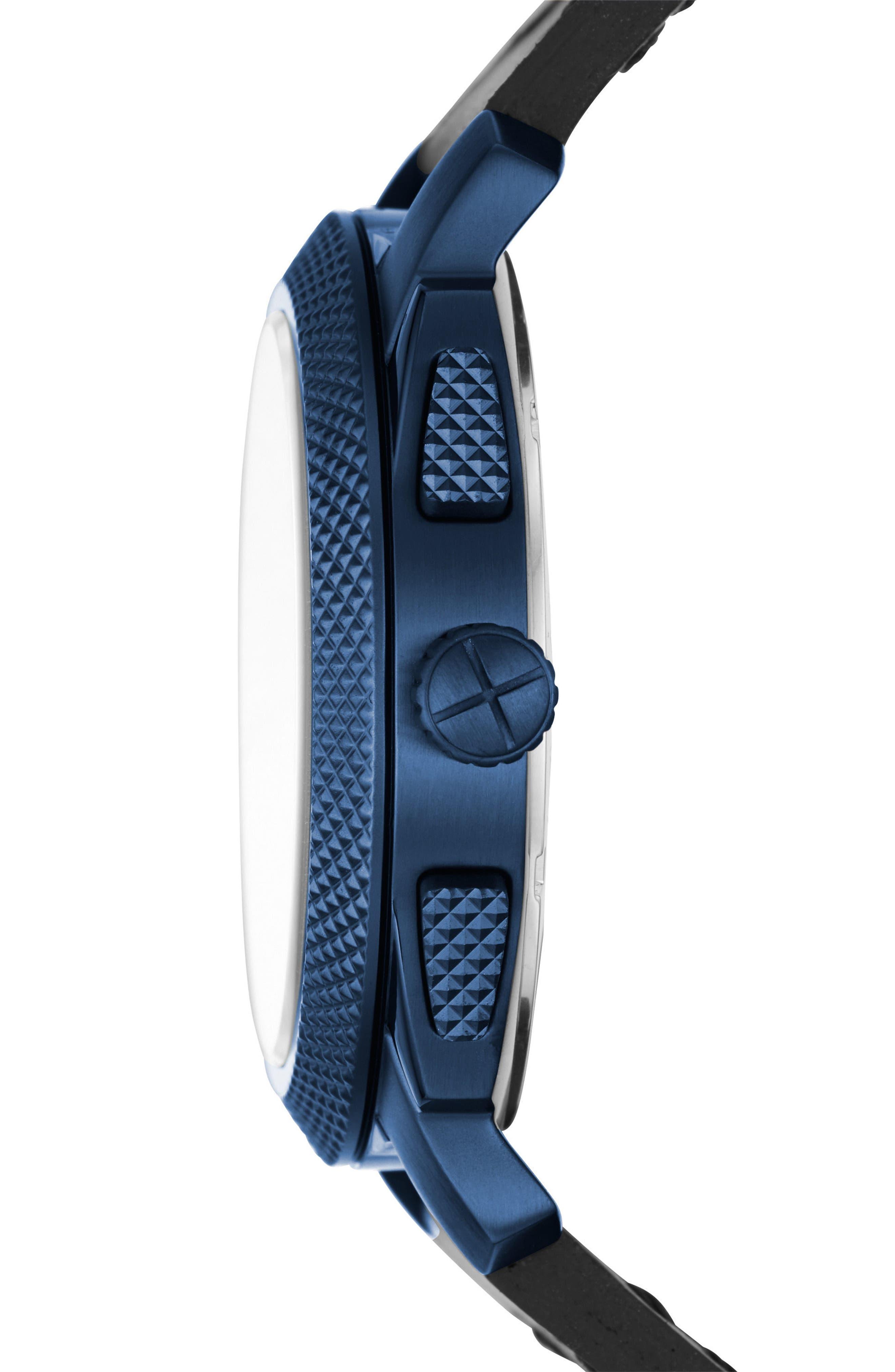 Machine Chronograph Bracelet Watch, 45mm,                             Alternate thumbnail 2, color,                             Black/ Blue