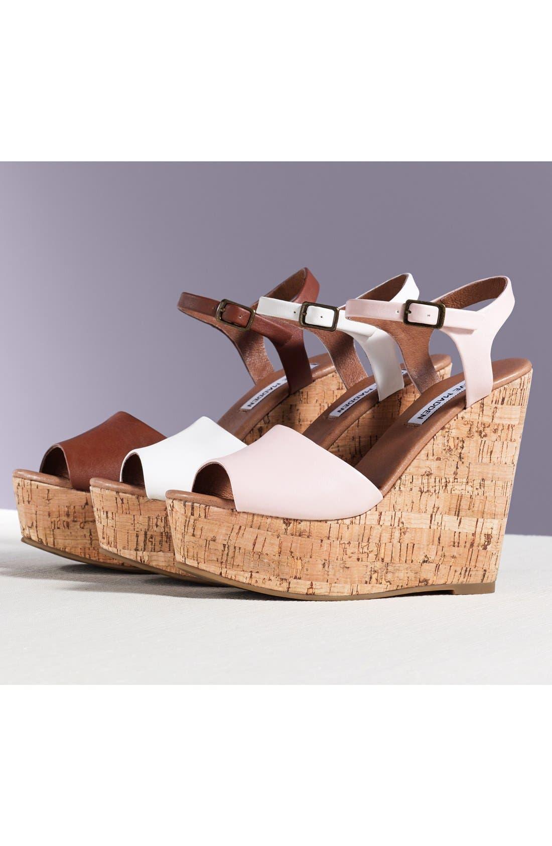 'Korkey' Ankle Strap Wedge Platform Sandal,                             Alternate thumbnail 5, color,