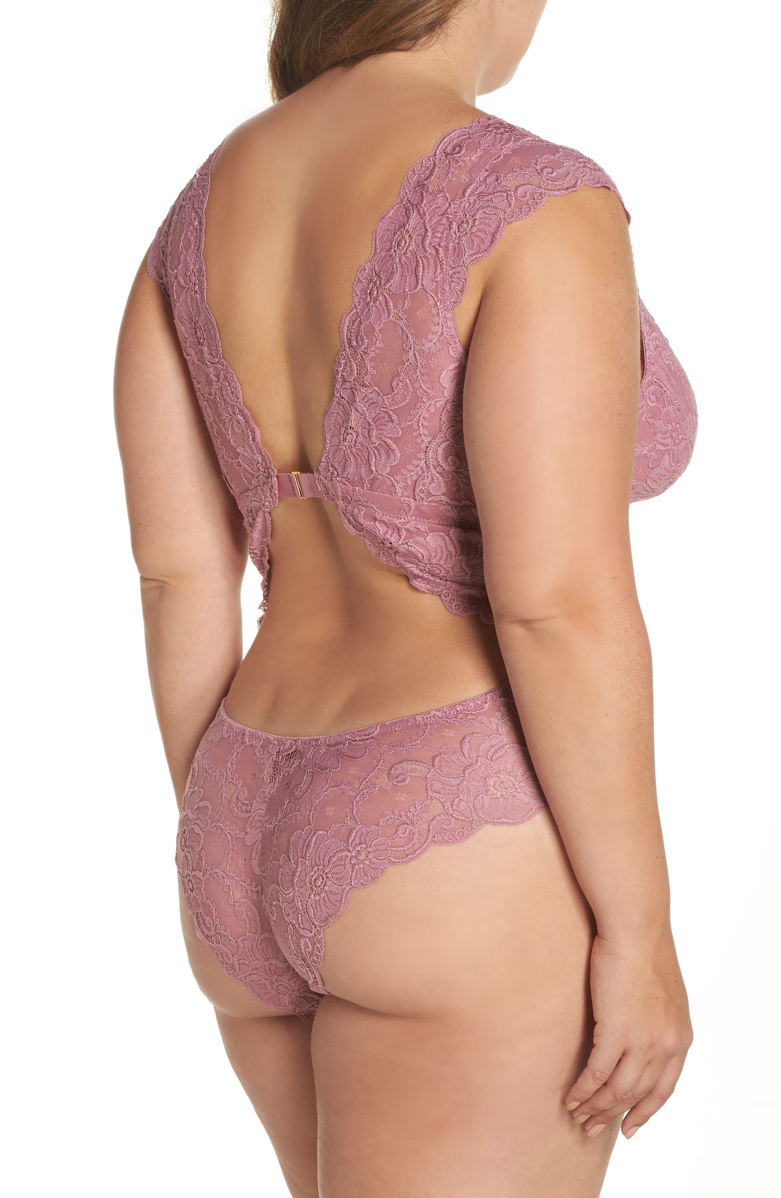 Alternate Image 2  - Oh La La Cheri Suzette Lace Teddy (Plus Size)