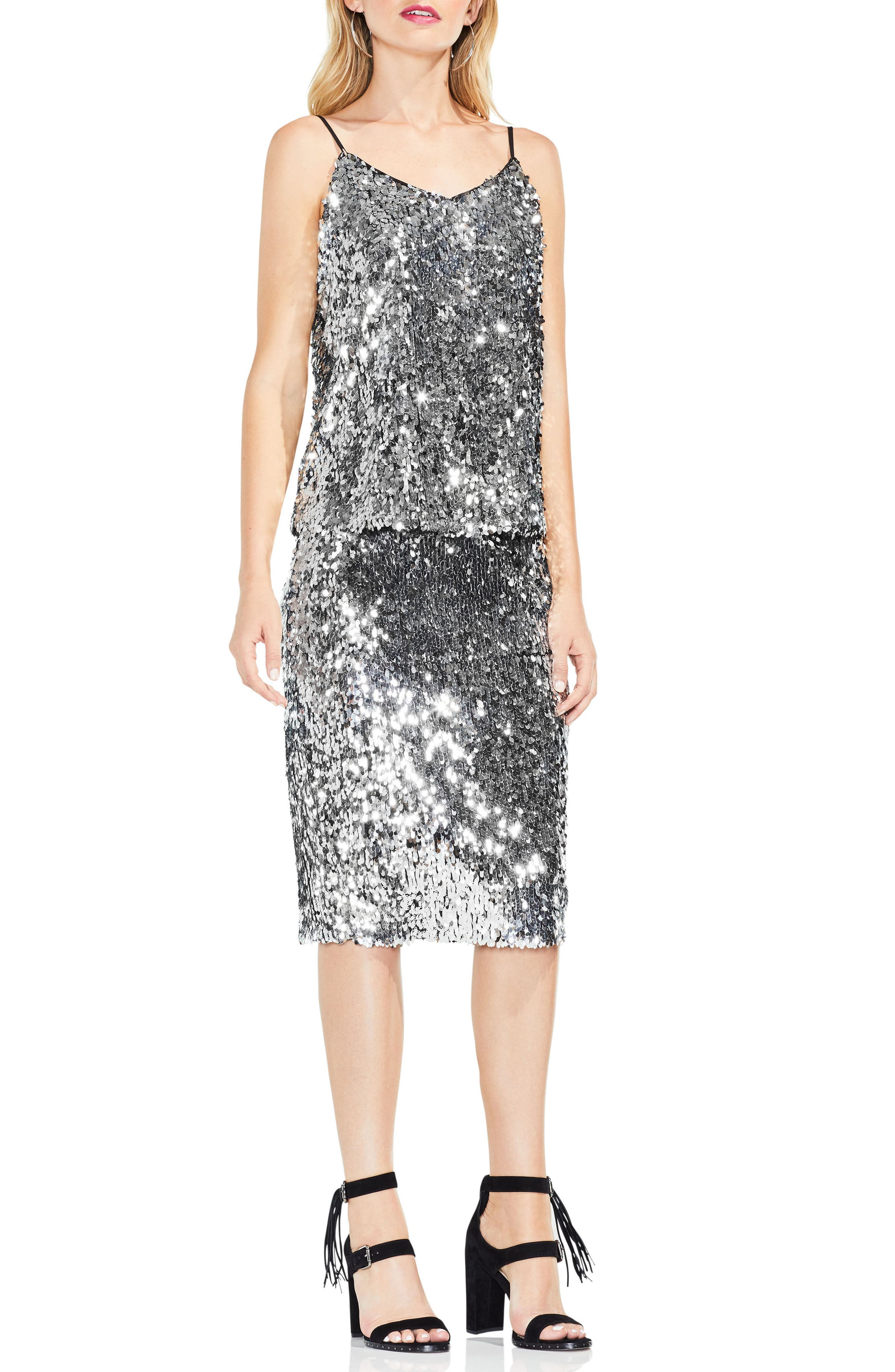 Alternate Image 4  - Vince Camuto Allover Sequin Camisole Top