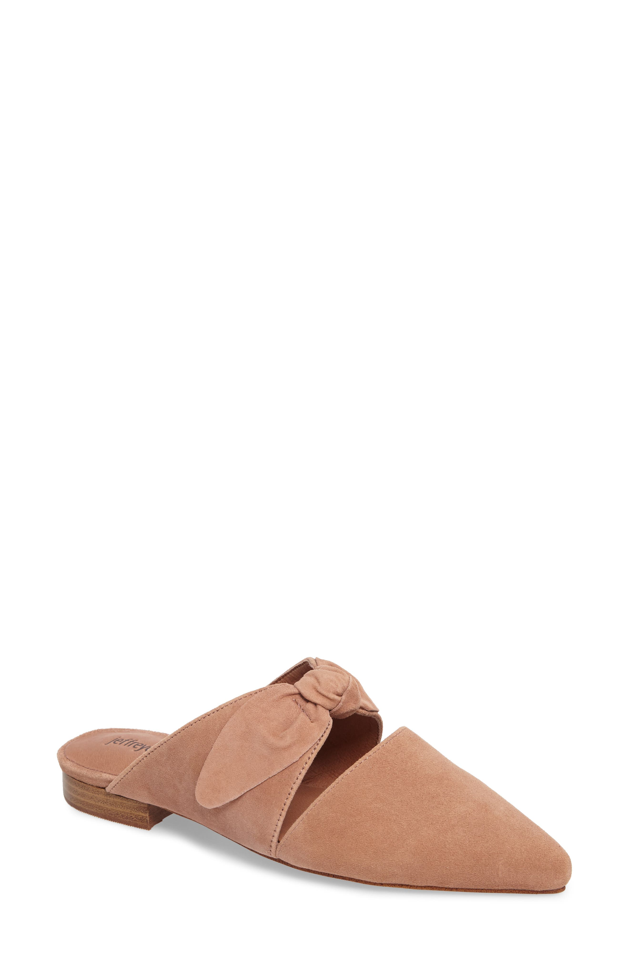 Charlin Bow Mule,                         Main,                         color, Blush Suede