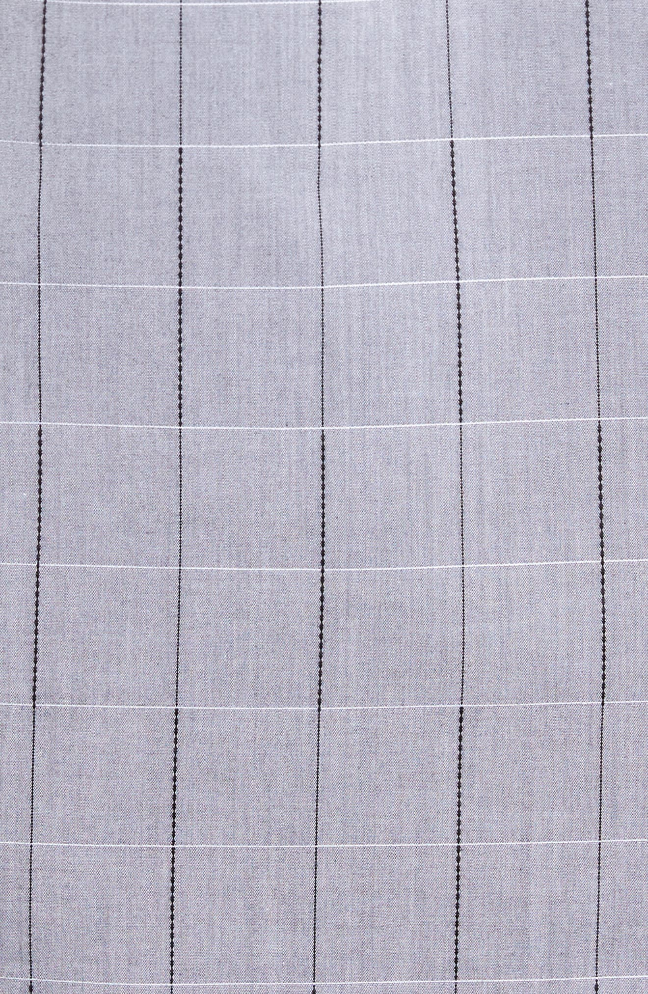 Ridley Slim Fit Dobby Check Sport Shirt,                             Alternate thumbnail 5, color,                             Grey