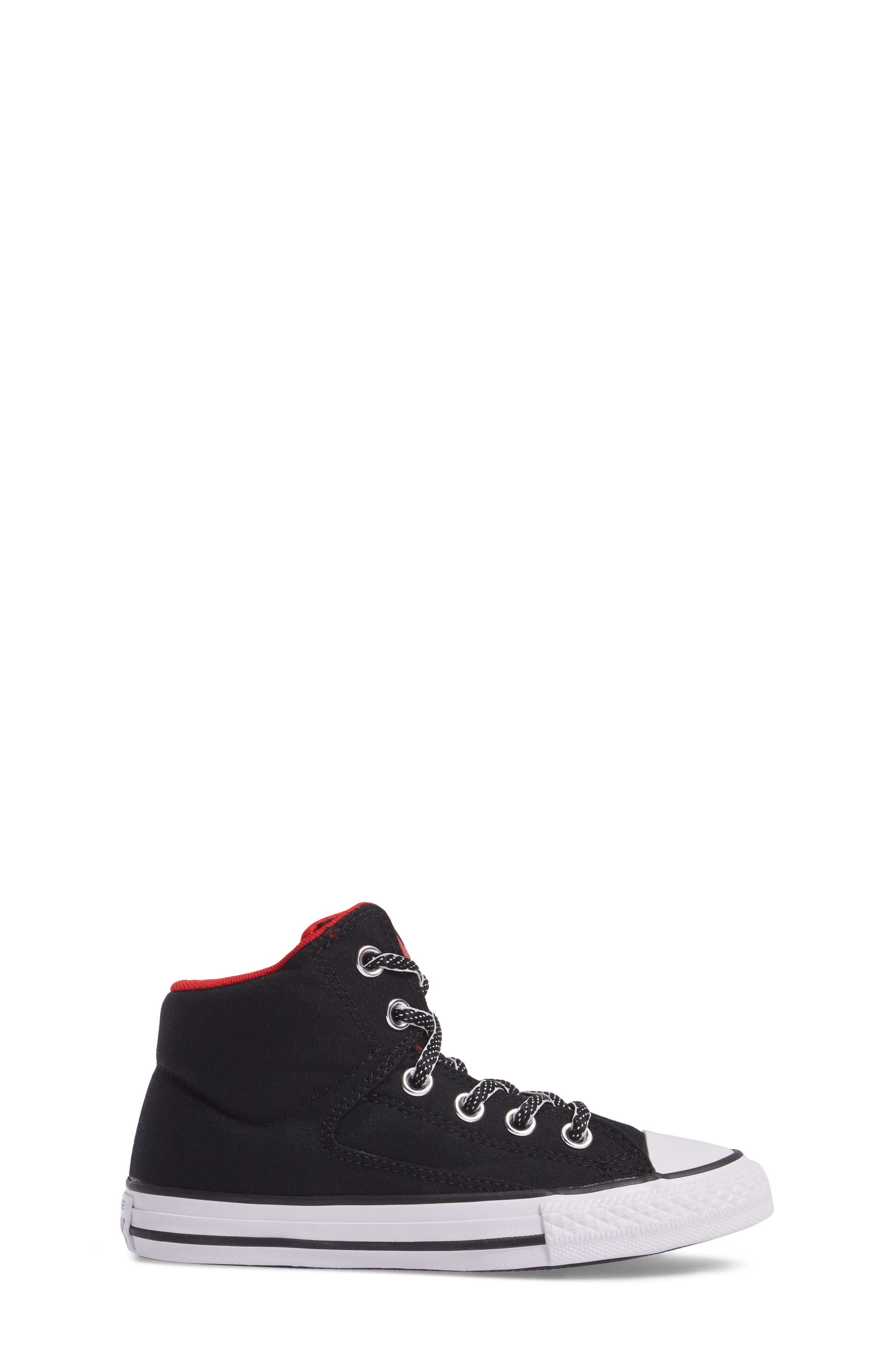 Chuck Taylor<sup>®</sup> All Star<sup>®</sup> High Street High Top Sneaker,                             Alternate thumbnail 3, color,                             Black Canvas
