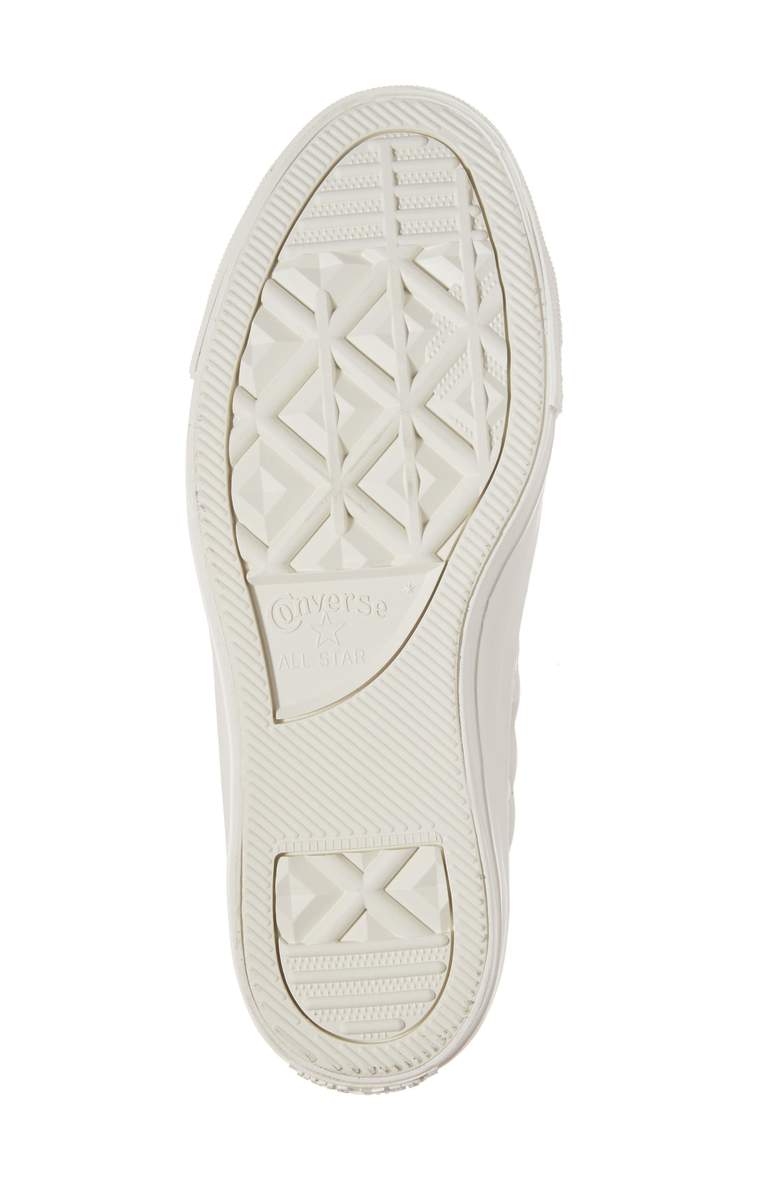 All Star<sup>®</sup> Quilted High Top Sneaker,                             Alternate thumbnail 6, color,                             Egret Leather