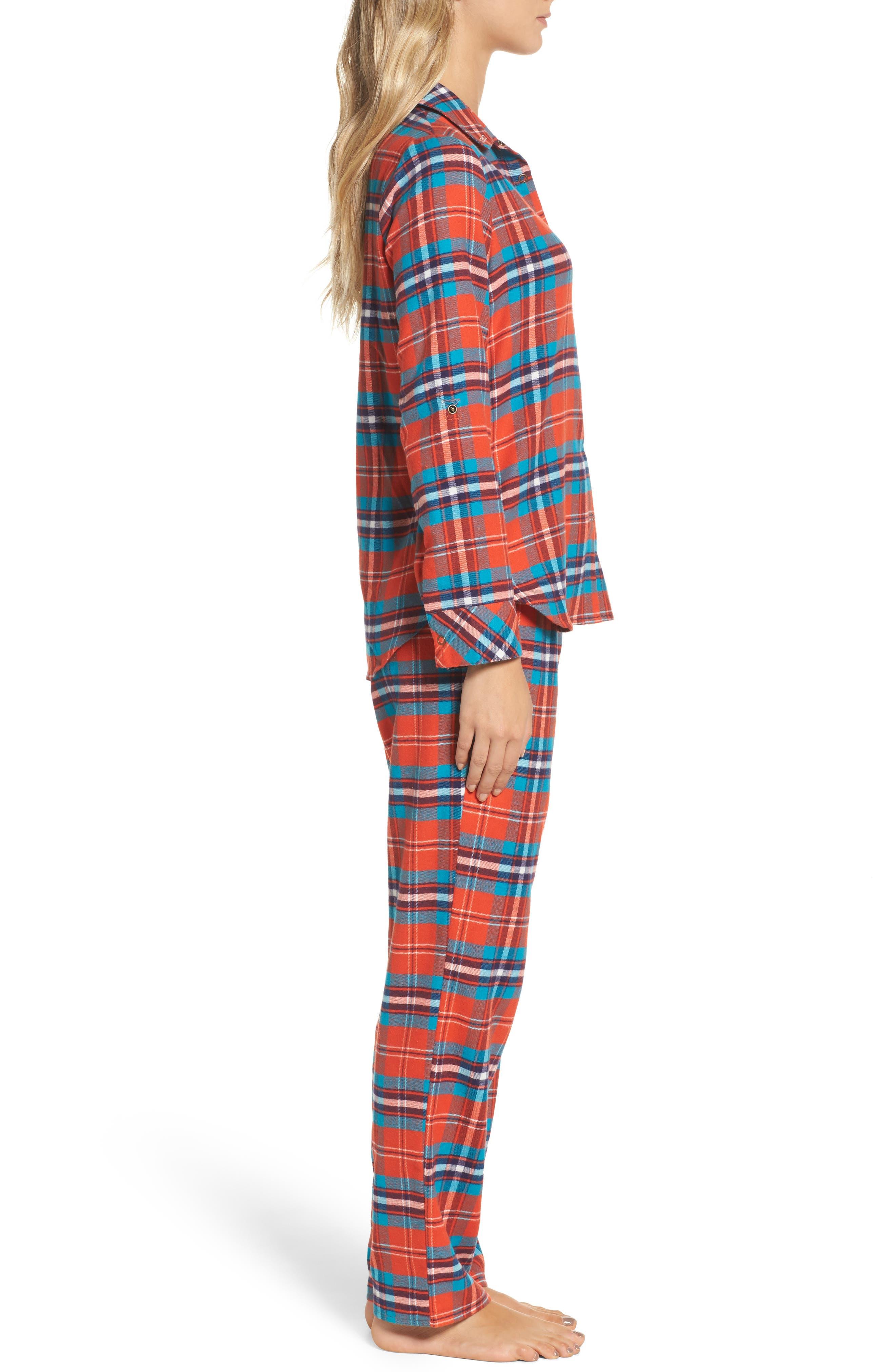 Alternate Image 3  - Make + Model Flannel Girlfriend Pajamas