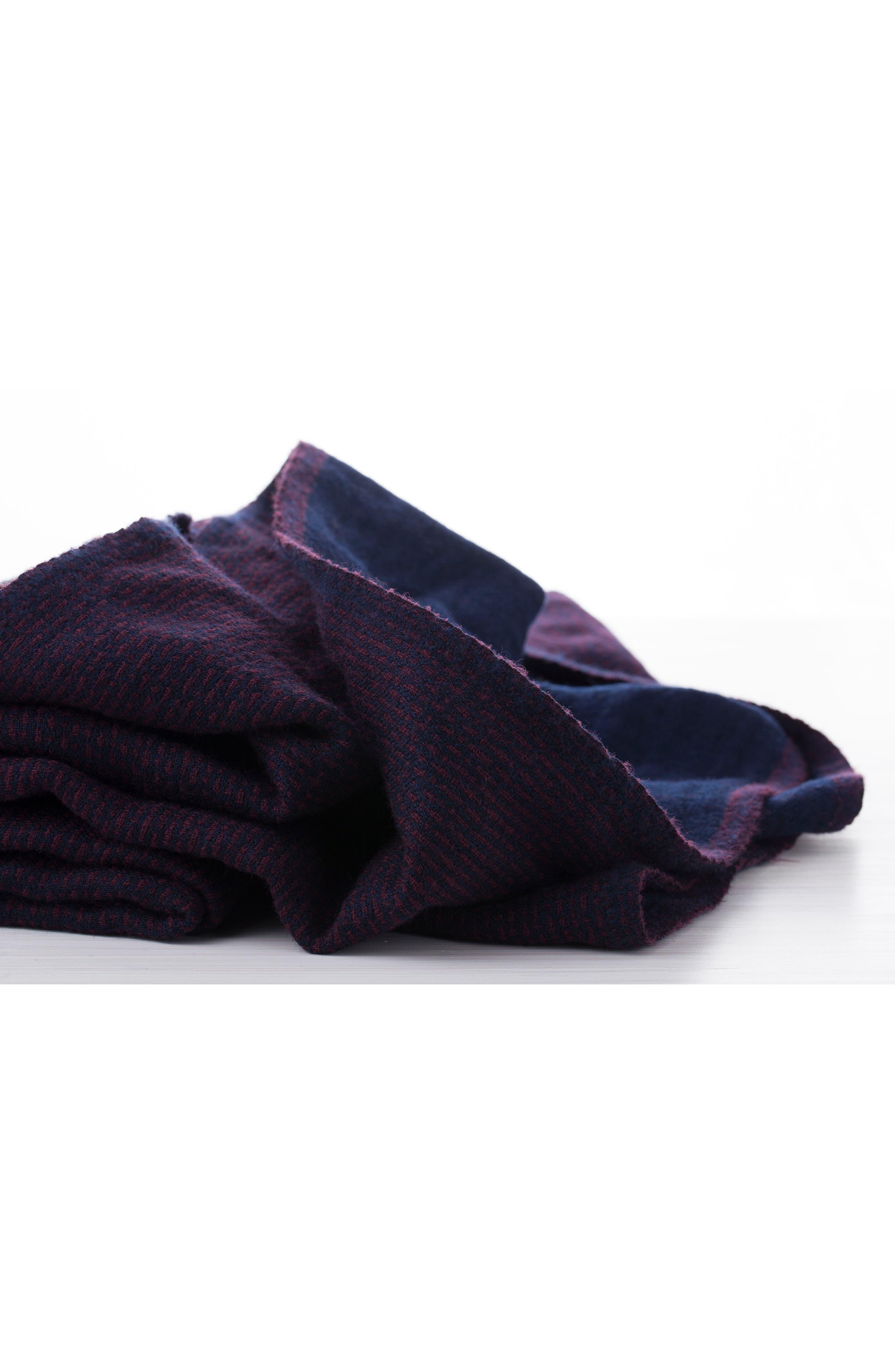 Alternate Image 3  - Modern Staples Stipple Stripe Double Face Merino Wool Throw