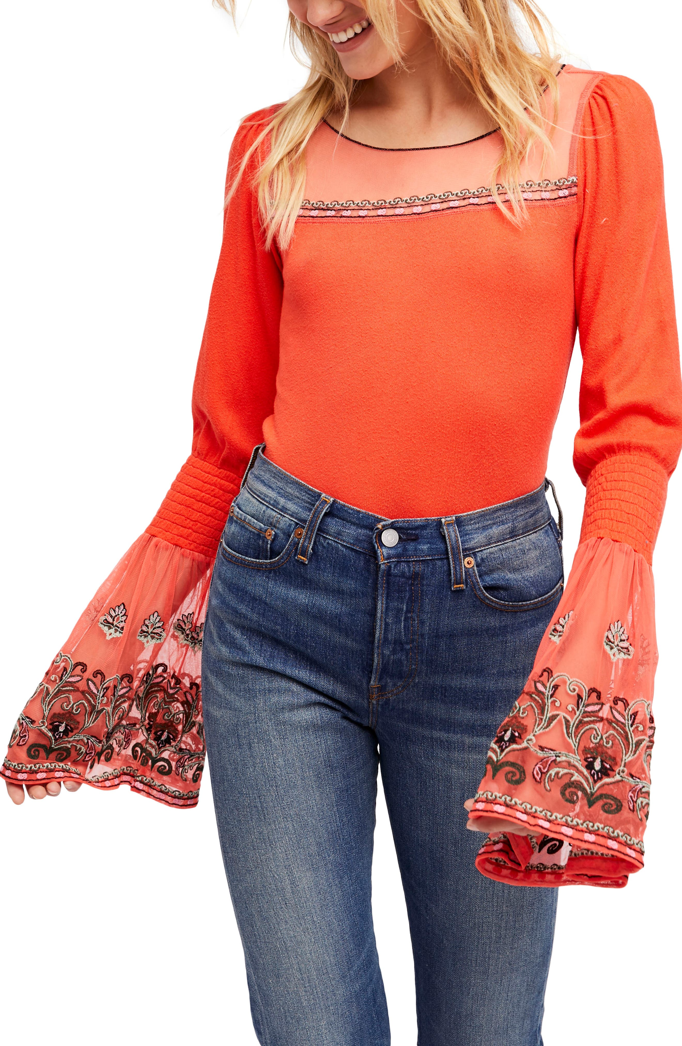 High Tides Top,                             Main thumbnail 1, color,                             Red