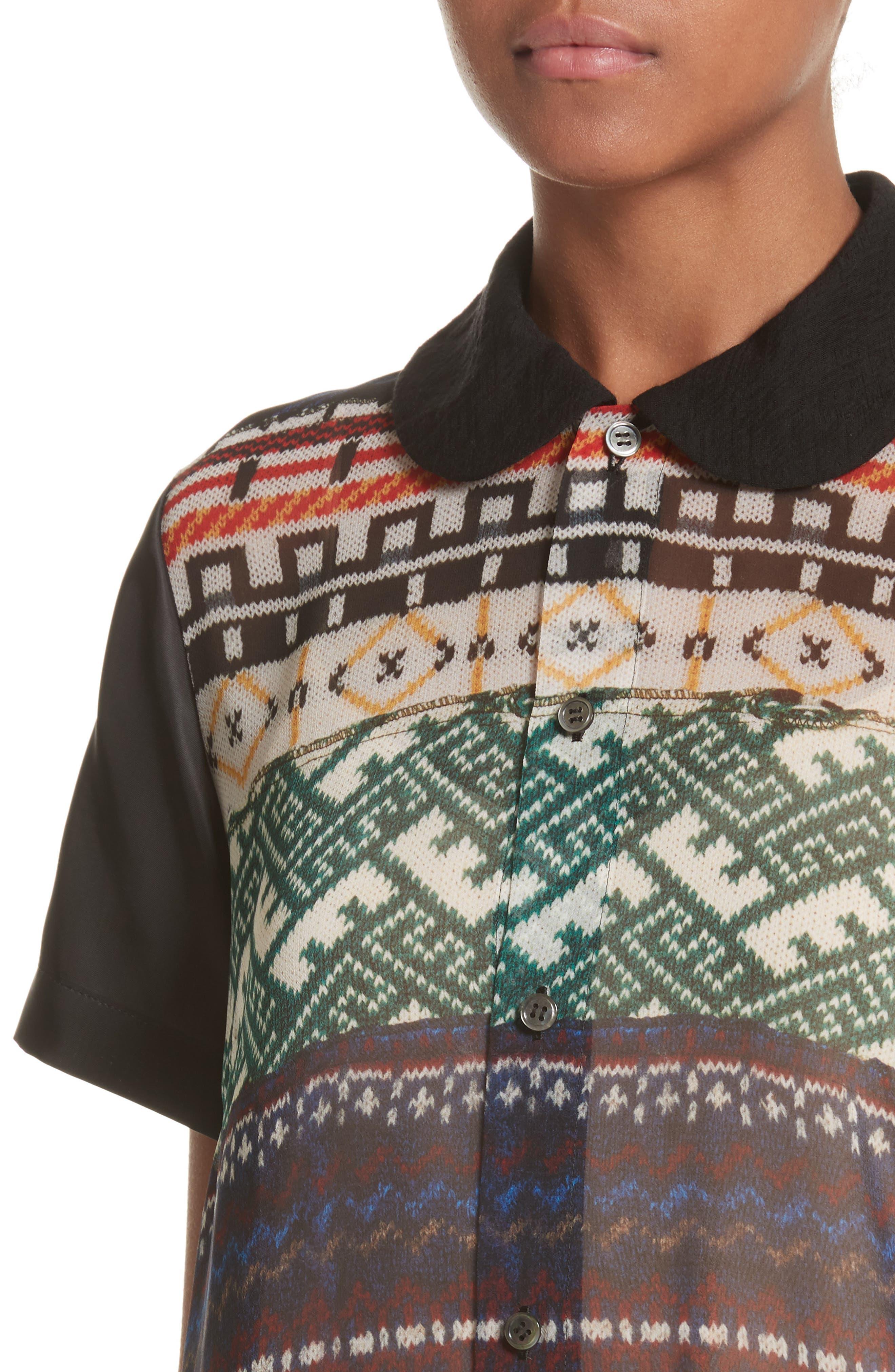 Alternate Image 4  - Tricot Comme des Garçons Mixed Print Short Sleeve Dress