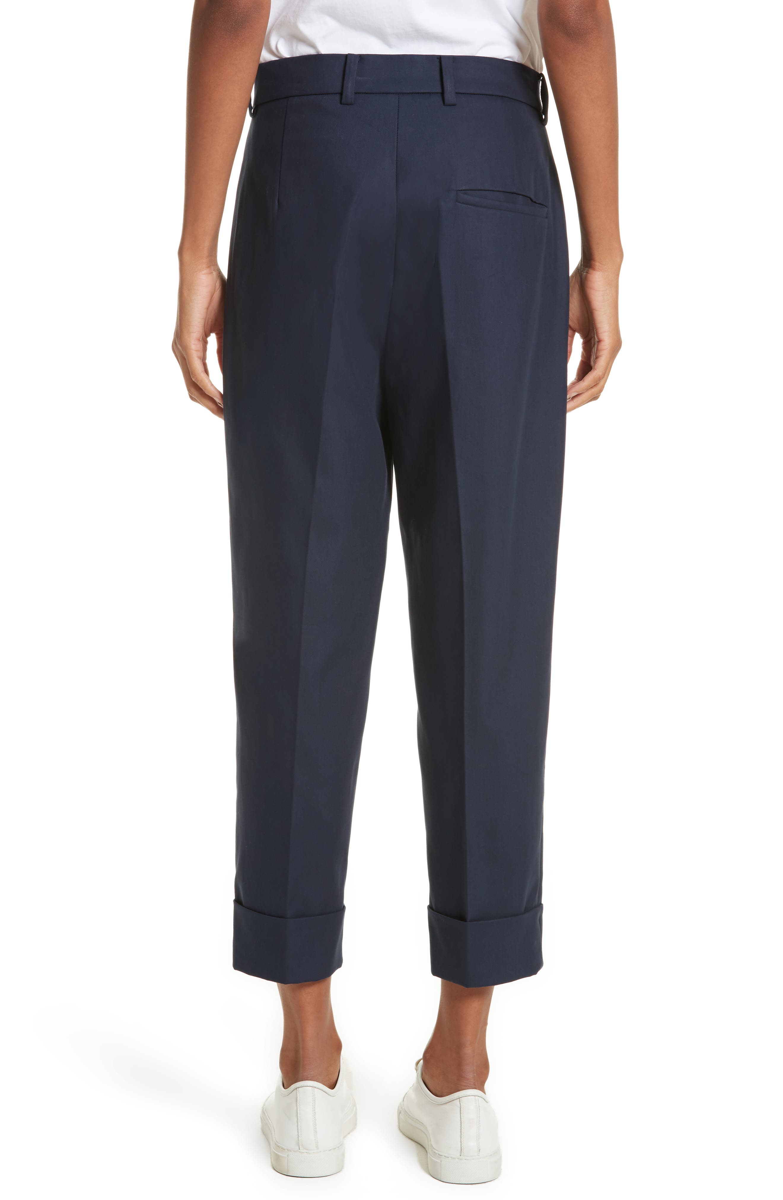 Cuffed Crop Pants,                             Alternate thumbnail 2, color,                             Navy Blue