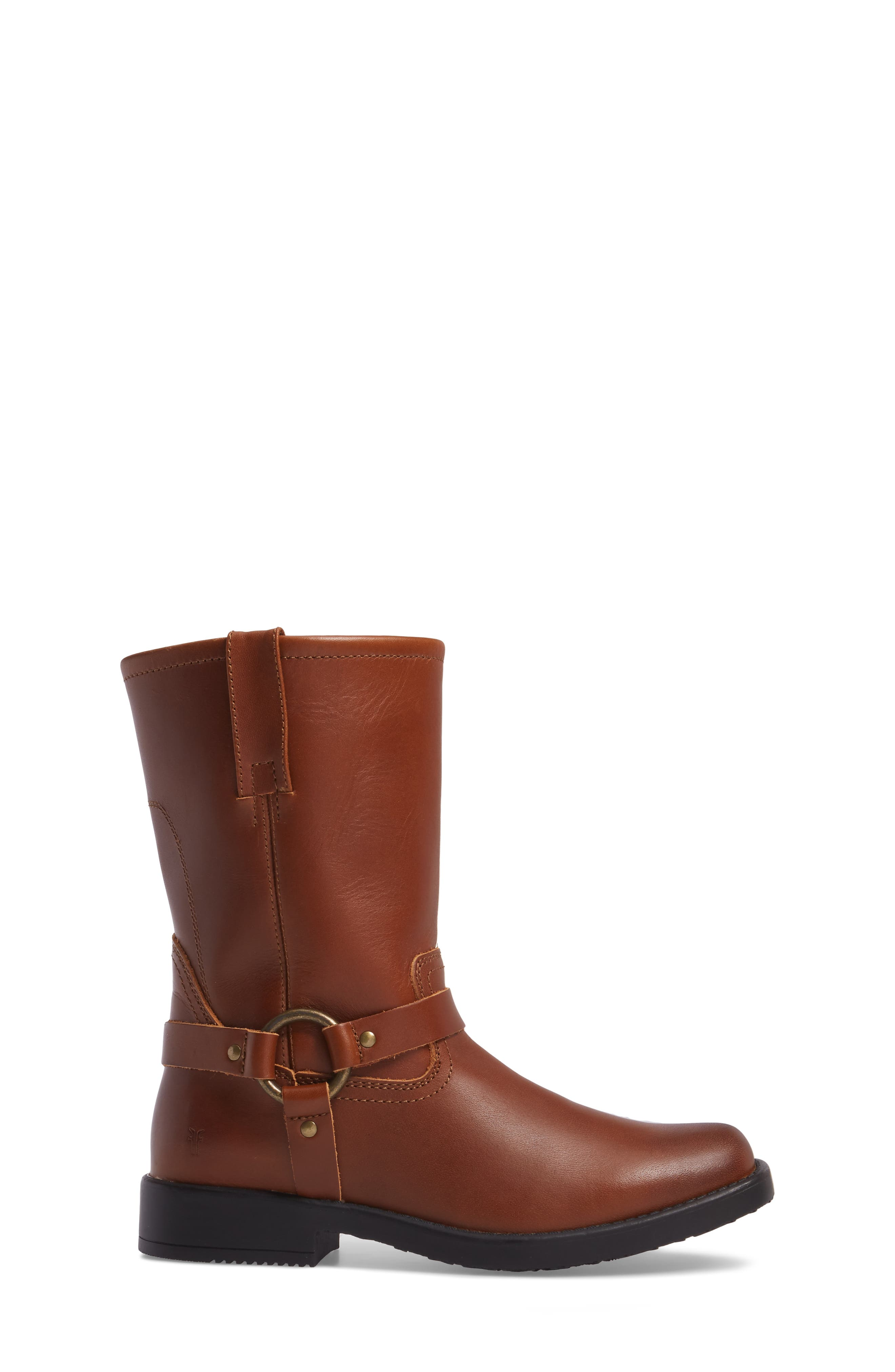 Harness Engineer Boot,                             Alternate thumbnail 3, color,                             Cognac