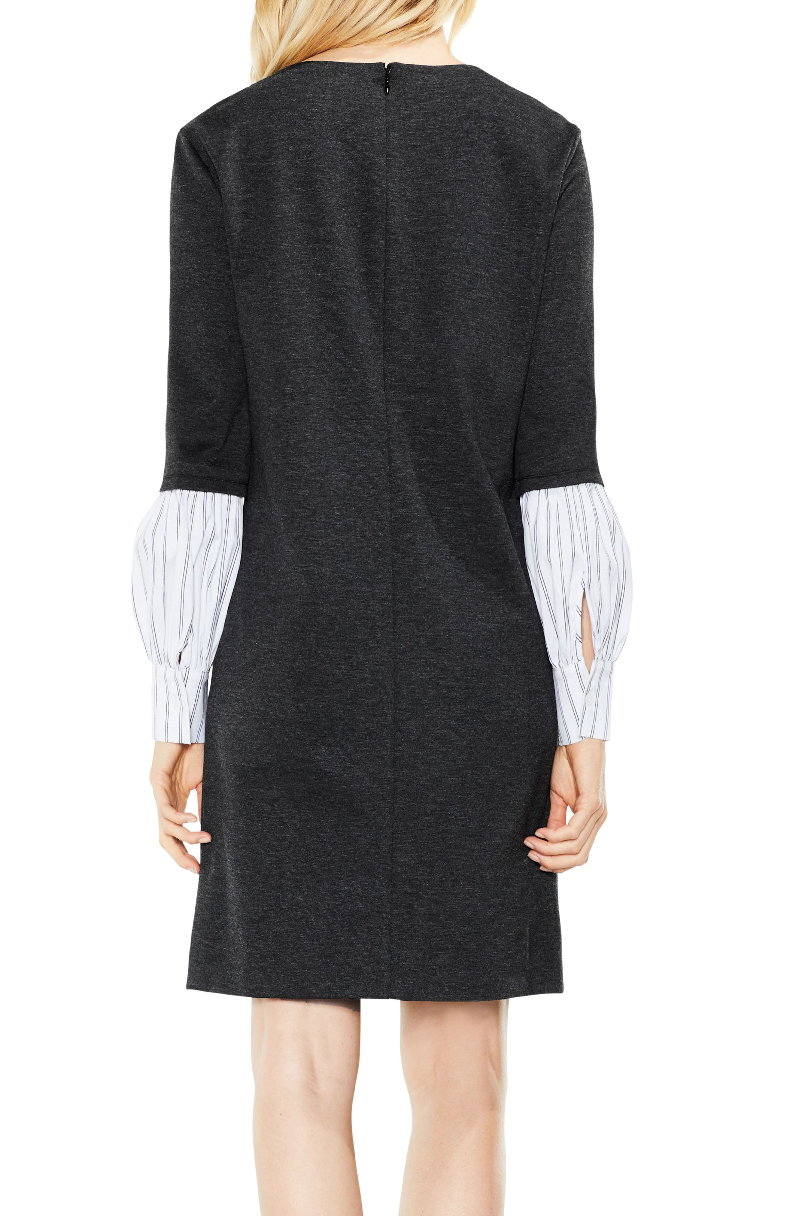 Alternate Image 4  - Vince Camuto Bubble Sleeve Mix Media Dress