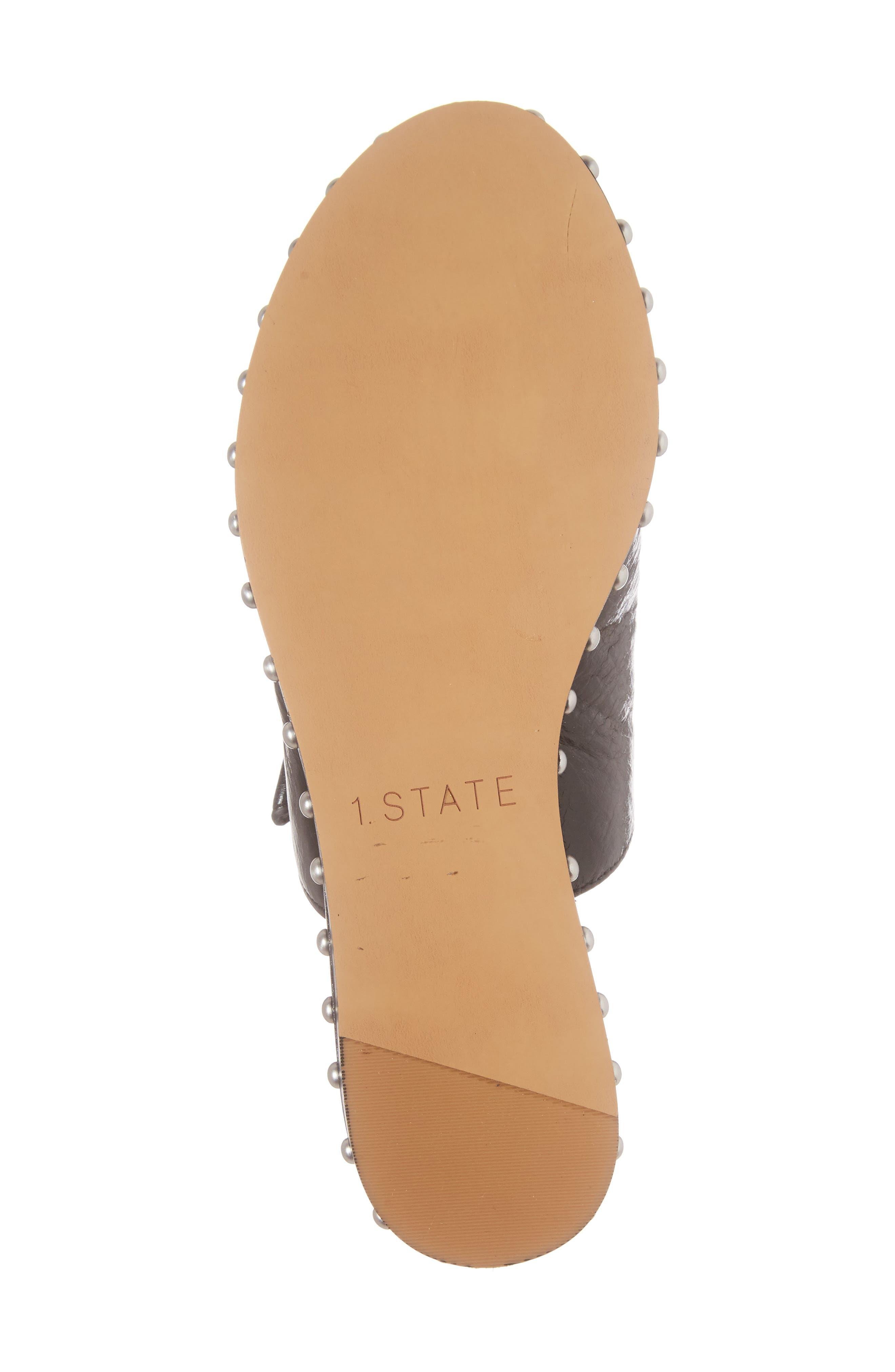 Cadwyn Slide Sandal,                             Alternate thumbnail 6, color,                             Black Leather