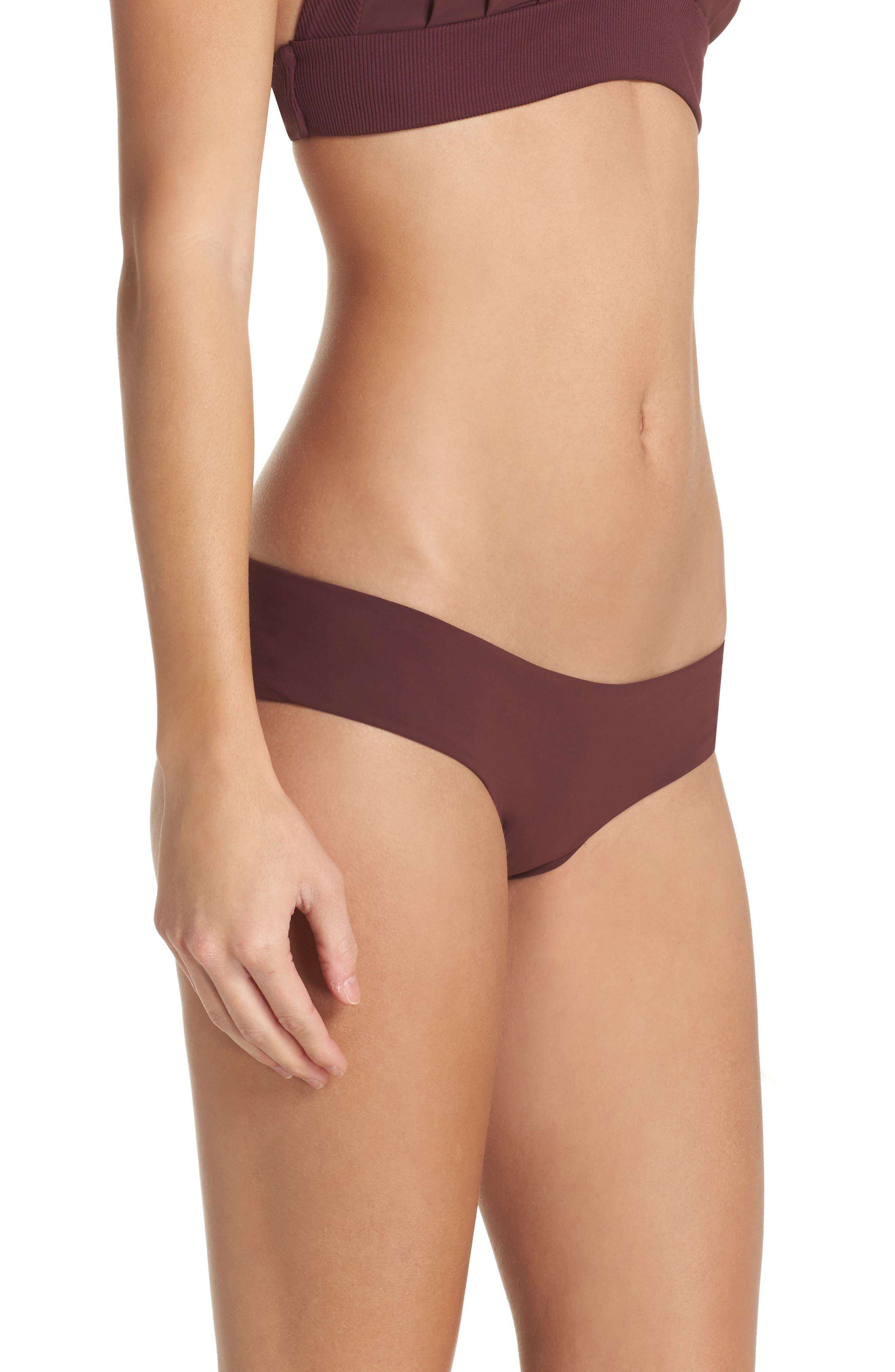 Yaya the Yuppy Bikini Bottoms,                             Alternate thumbnail 3, color,                             Burgundy