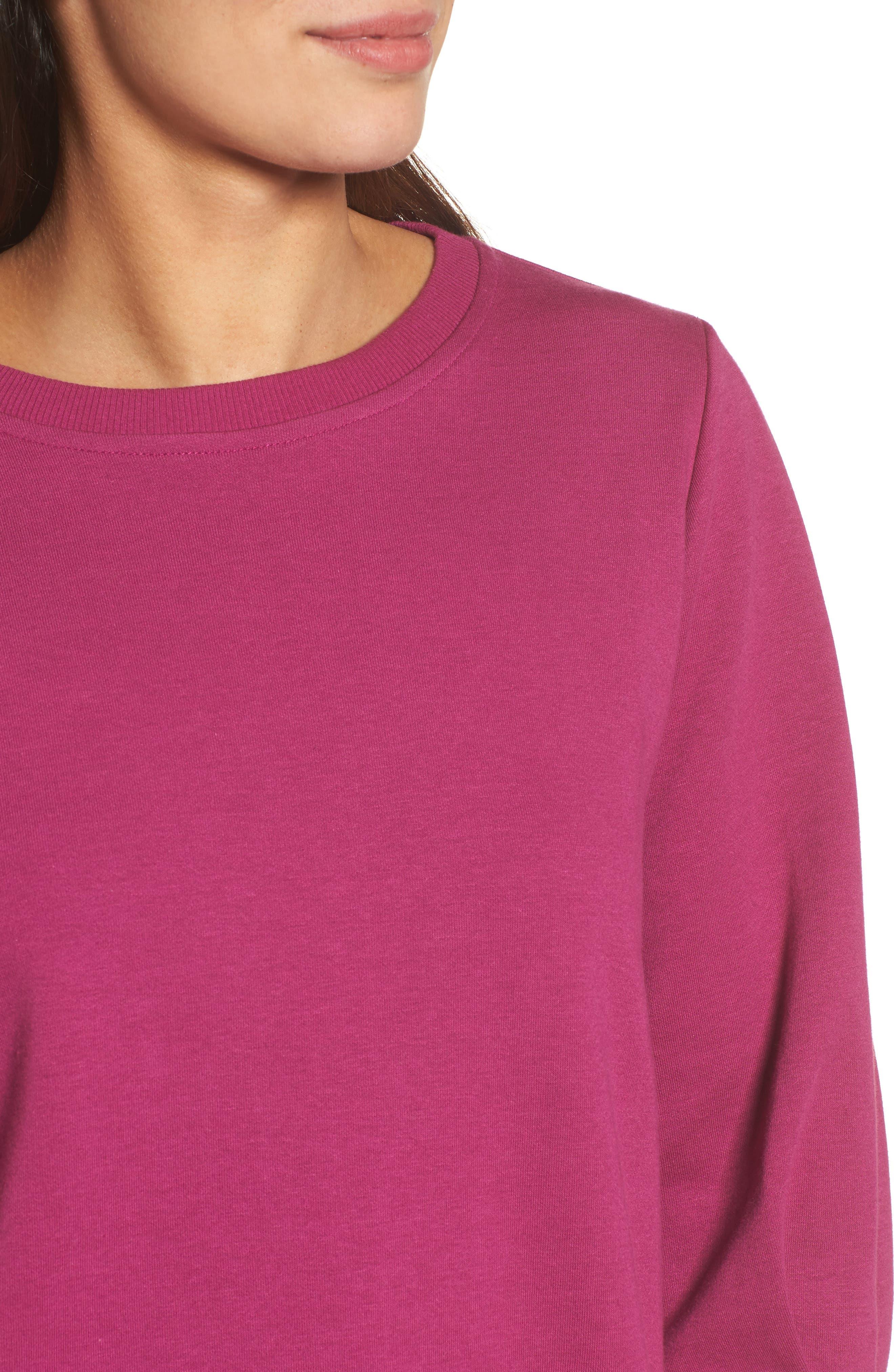 Alternate Image 4  - Halogen® Blouson Sleeve Sweatshirt