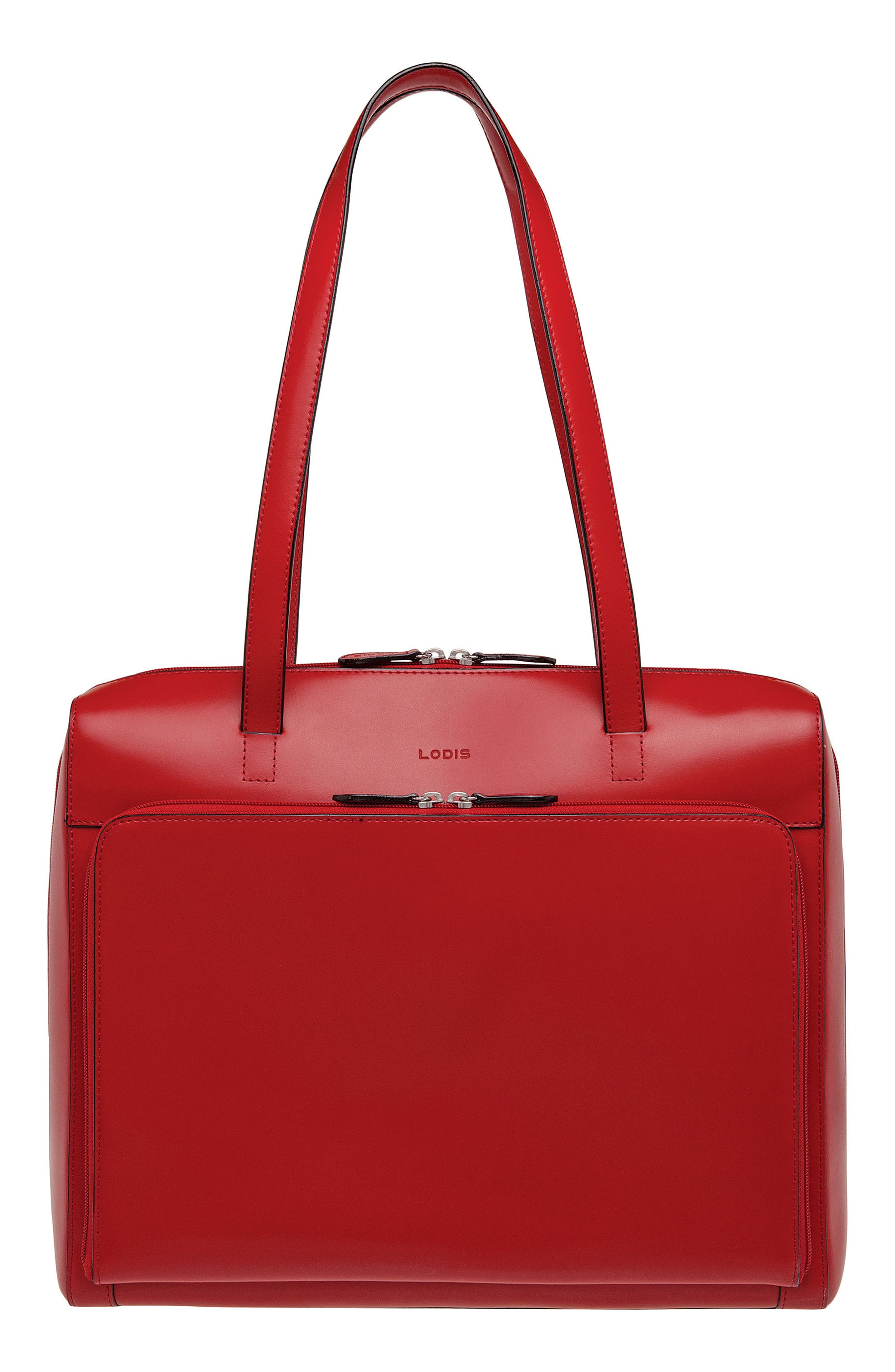 Lodis Audrey Under Lock & Key Organizer Tote,                         Main,                         color, Red/ Black