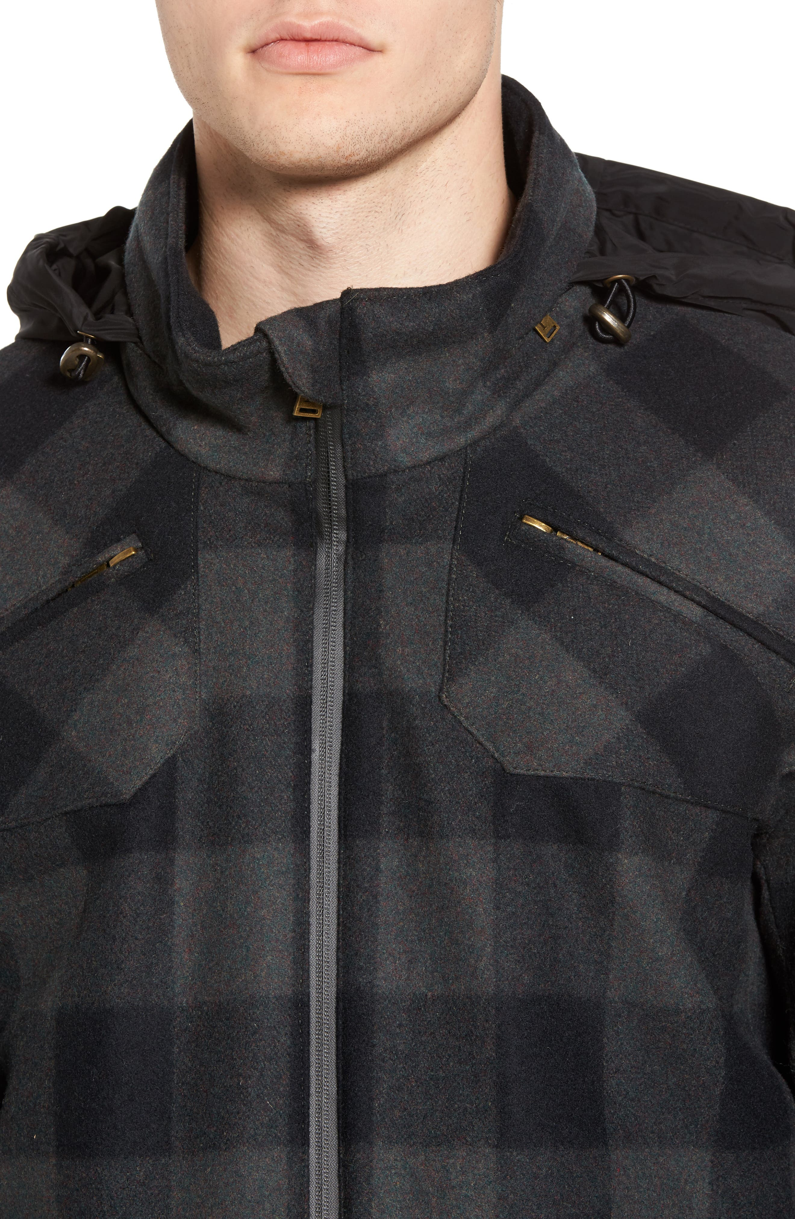 Albuquerque Jacket,                             Alternate thumbnail 4, color,                             Olive Buffalo Plaid