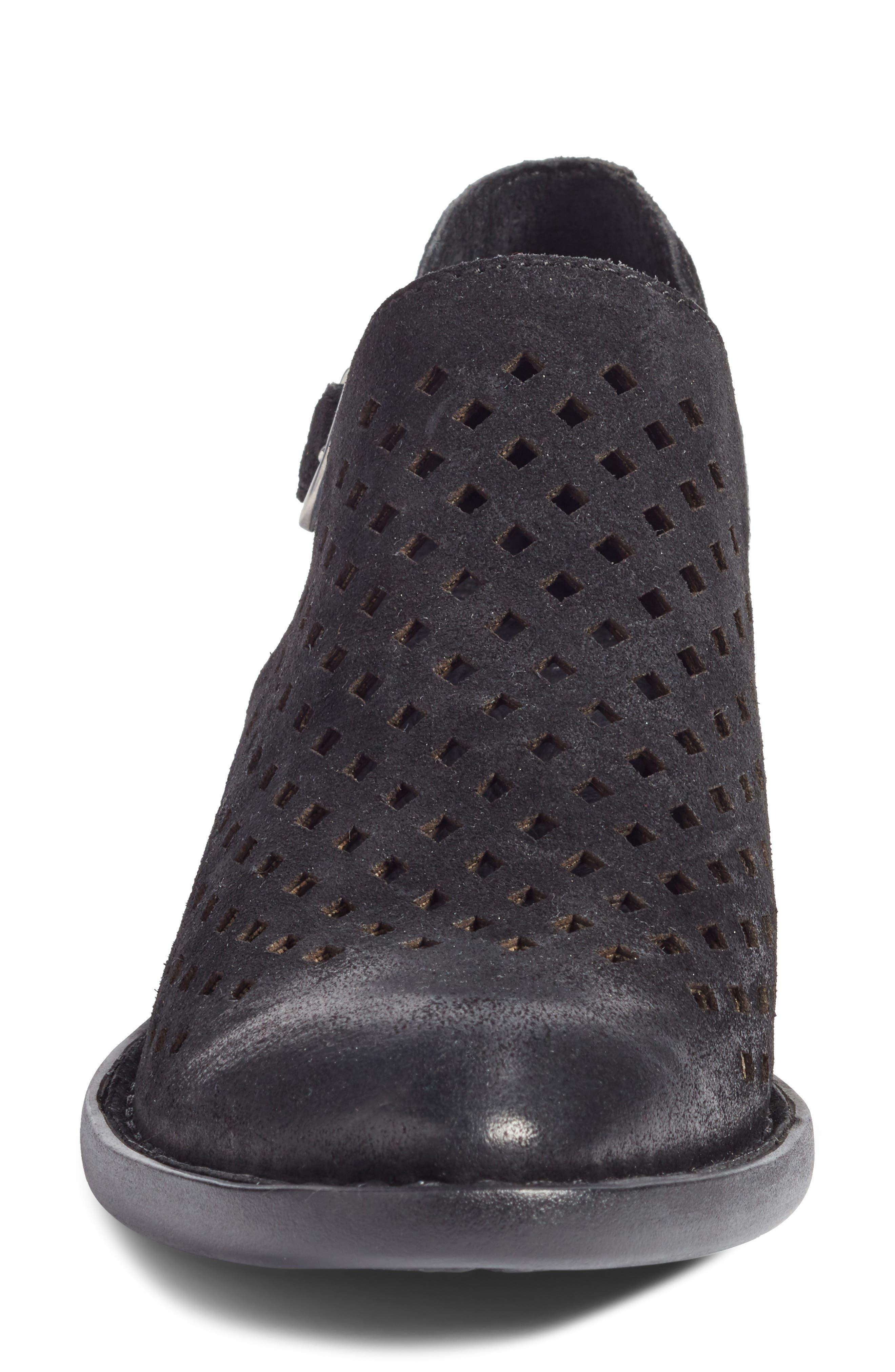 Nanna Bootie,                             Alternate thumbnail 4, color,                             Black Leather
