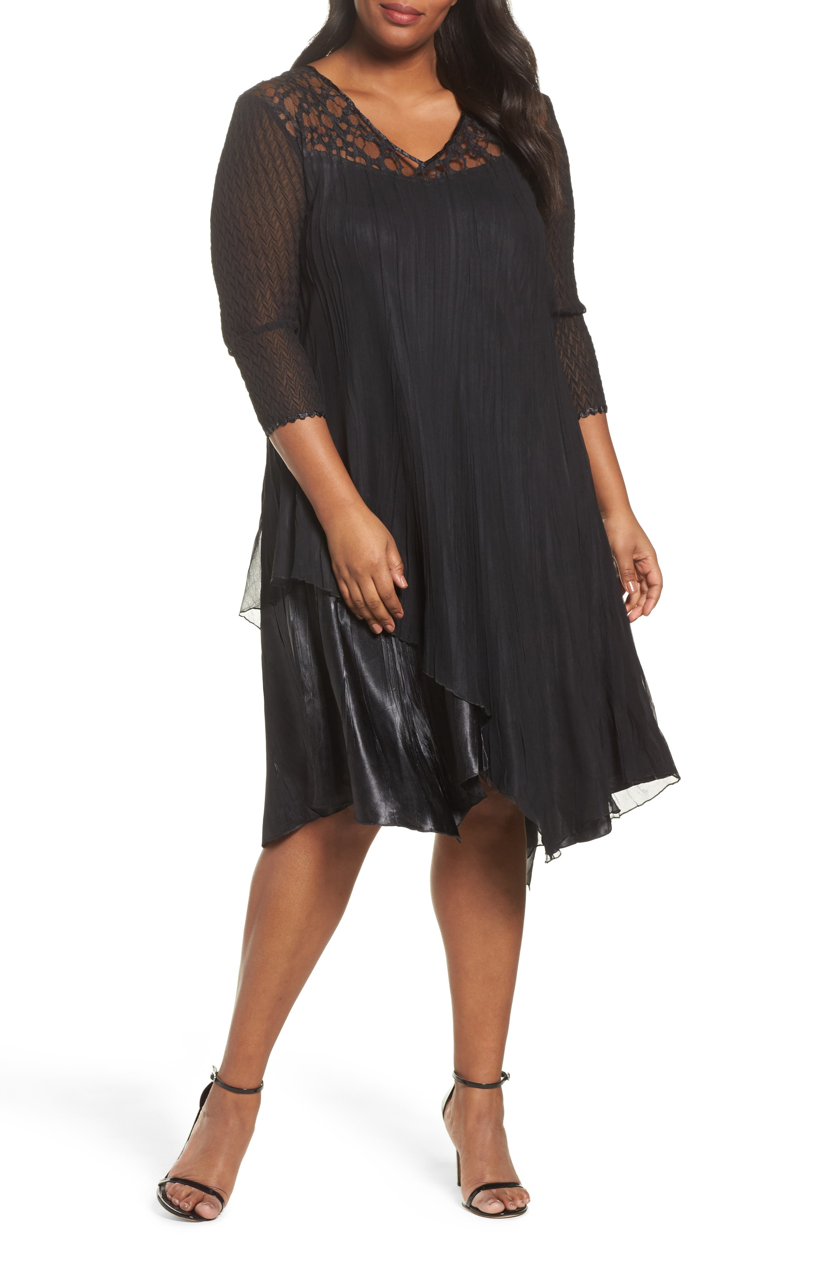 Alternate Image 1 Selected - Komarov Circle Lace Dress (Plus Size)