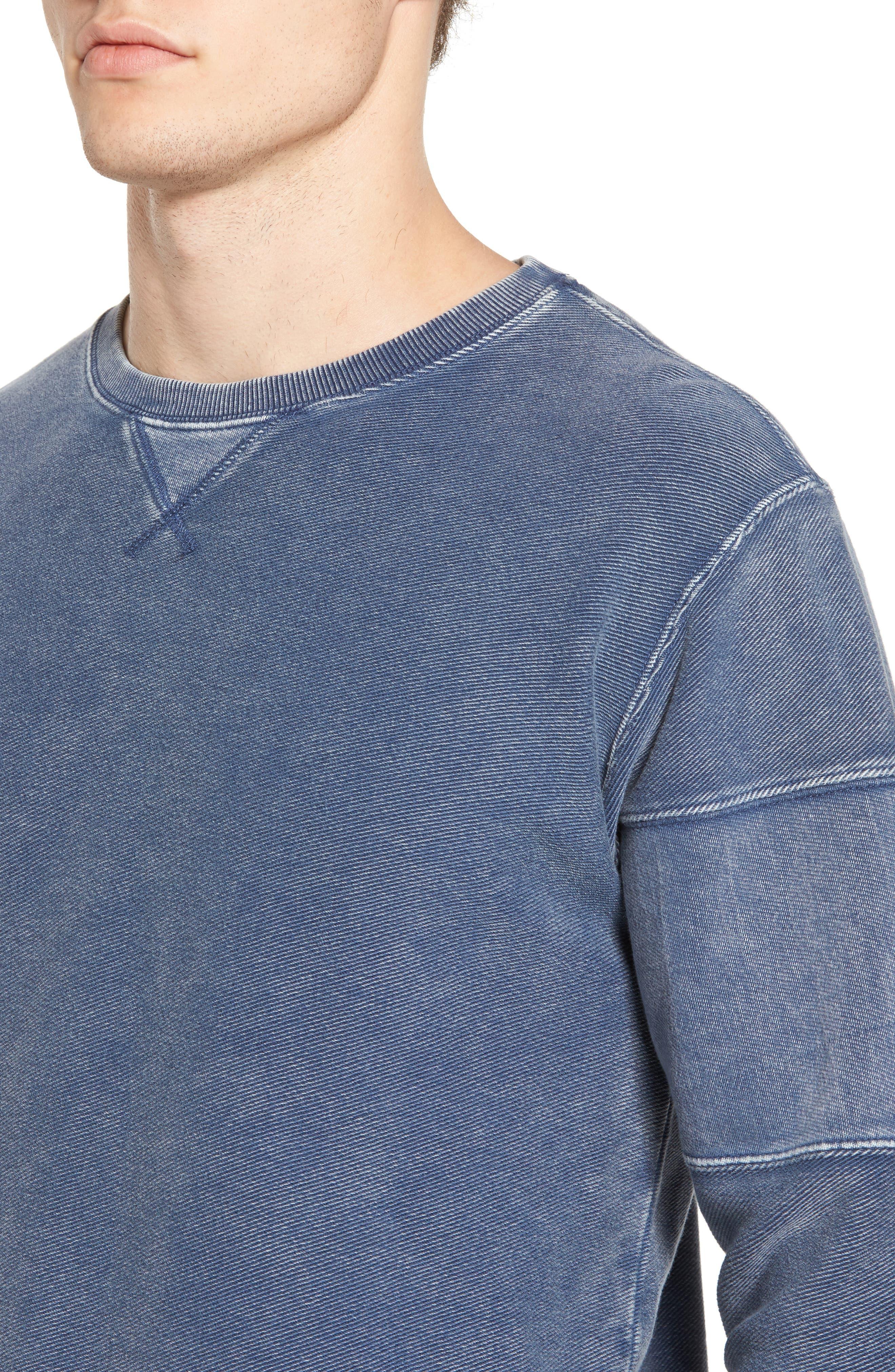 Alternate Image 4  - RVCA Distressed Sweatshirt