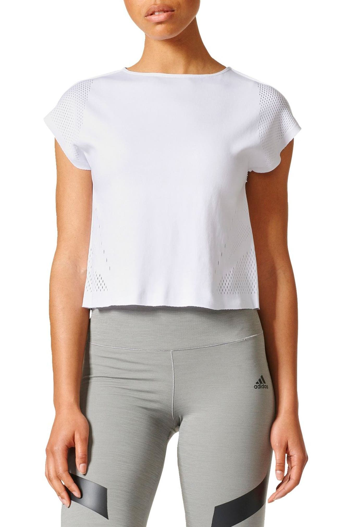 Warp Knit Tee,                         Main,                         color, White