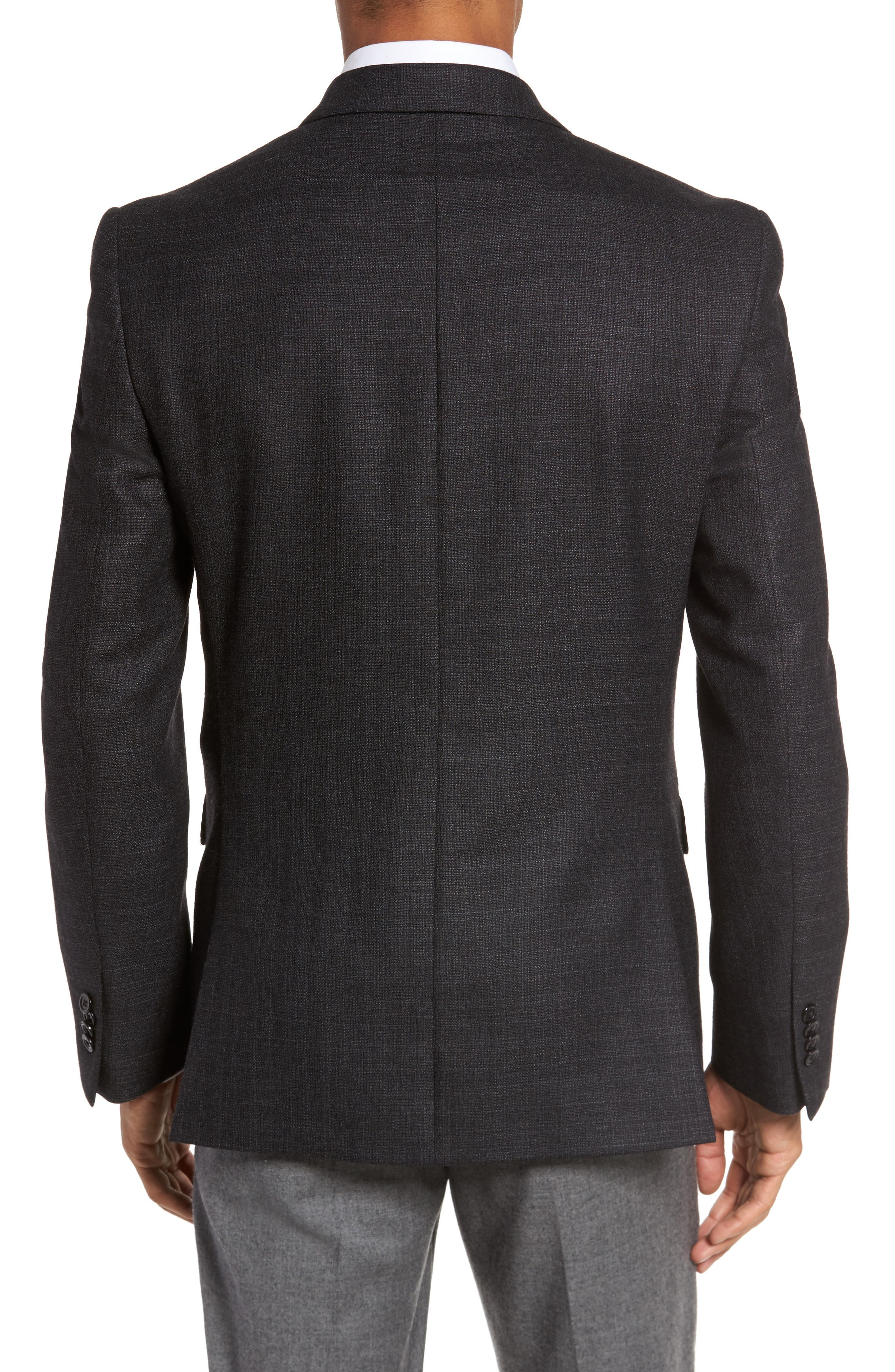 Classic Fit Wool Blazer,                             Alternate thumbnail 2, color,                             Charcoal