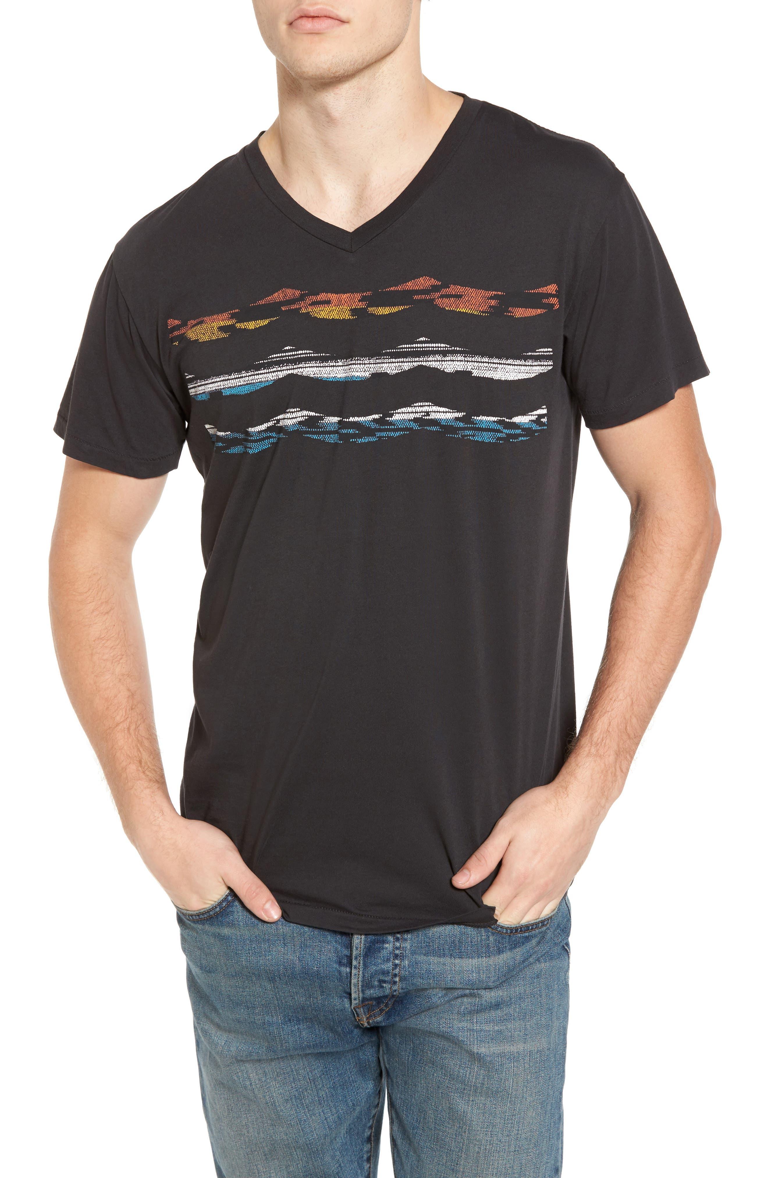Madrugada Waves T-Shirt,                             Main thumbnail 1, color,                             V Black