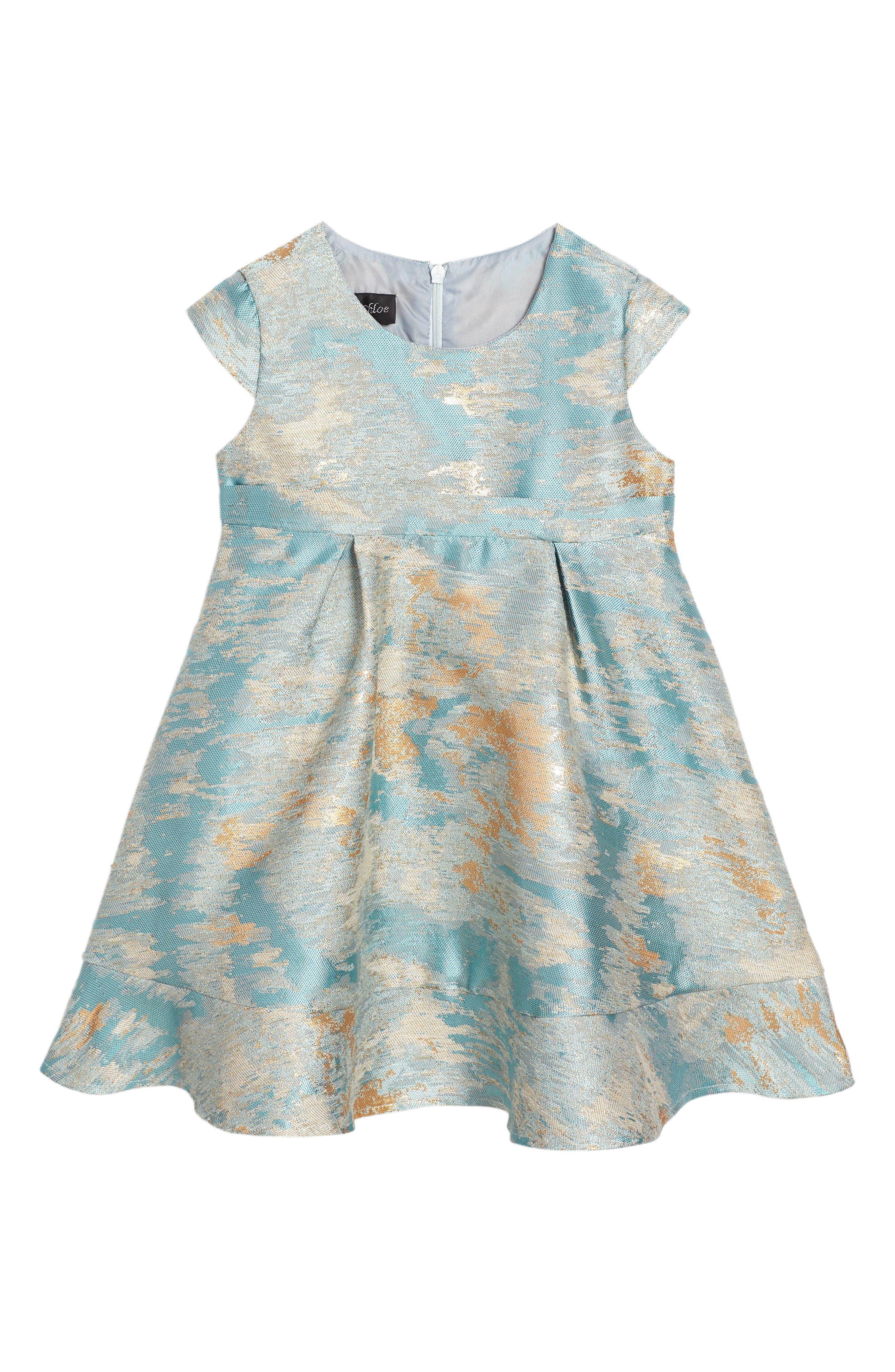 Isobella & Chloe Seafoam Empire Waist Dress (Toddler Girls & Little Girls)