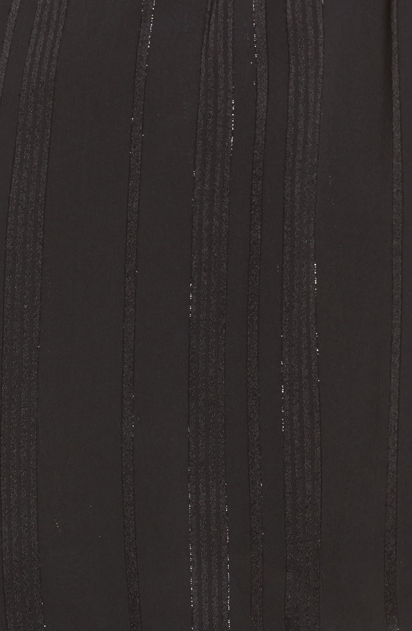 One Shoulder Top,                             Alternate thumbnail 5, color,                             Black