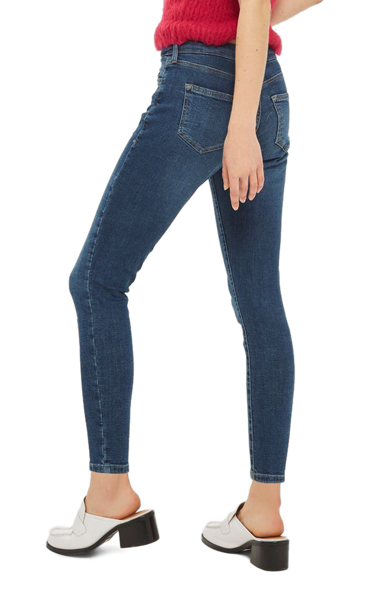 Sidney Ankle Skinny Jeans,                             Alternate thumbnail 2, color,                             Mid Denim