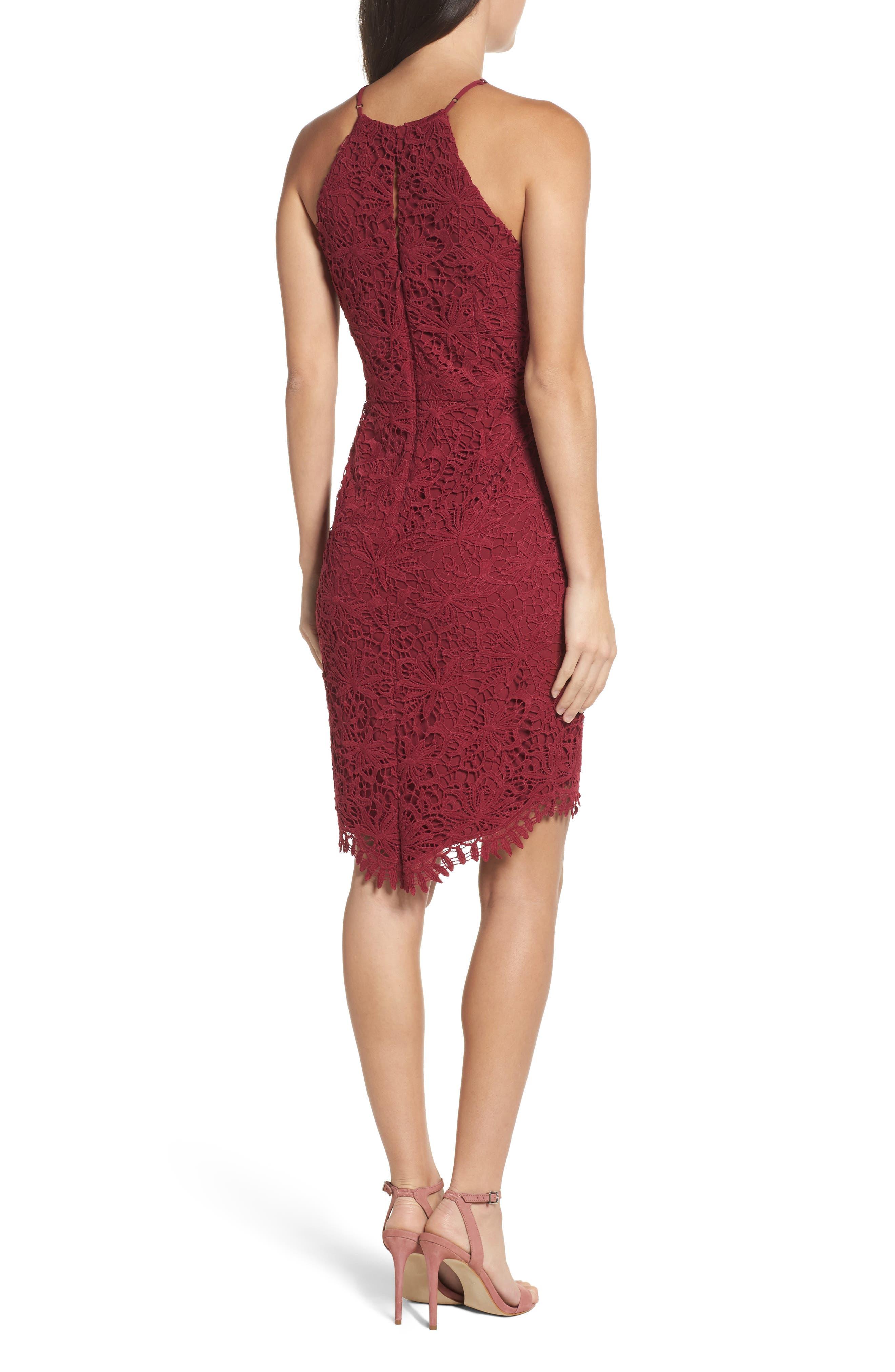 Louise Sheath Dress,                             Alternate thumbnail 2, color,                             Claret