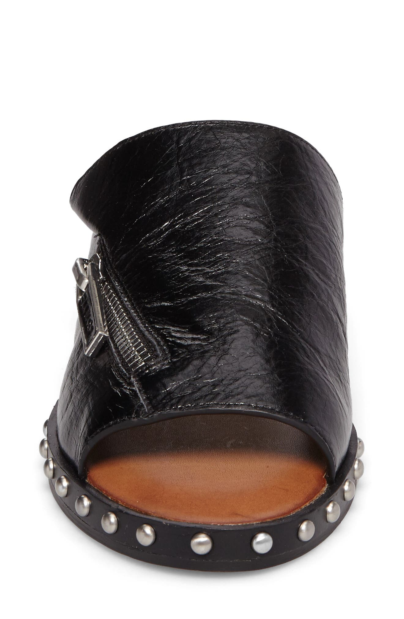 Cadwyn Slide Sandal,                             Alternate thumbnail 4, color,                             Black Leather