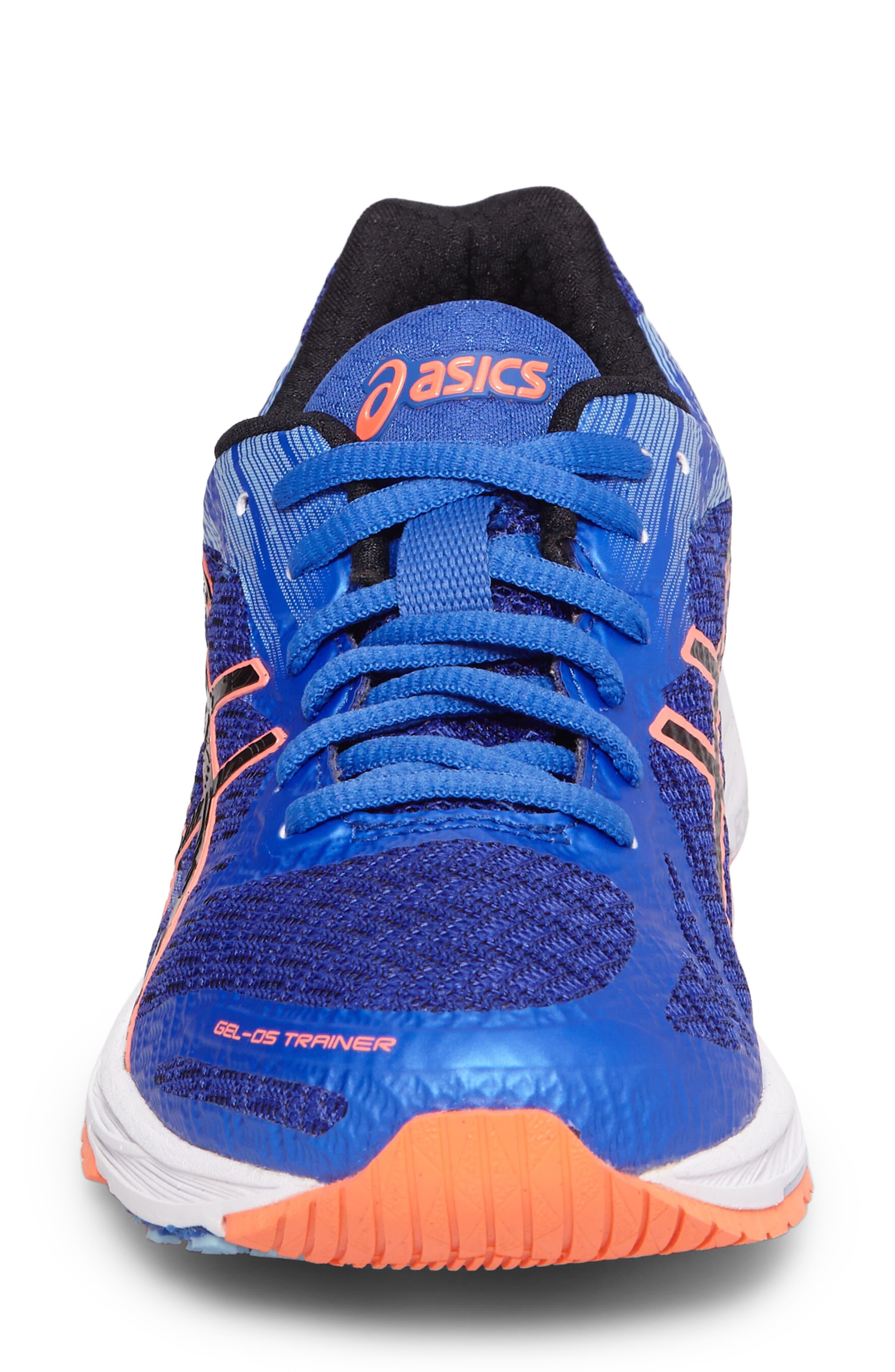 GEL-DS Trainer 22 Running Shoe,                             Alternate thumbnail 4, color,                             Blue Purple/ Black/ Coral