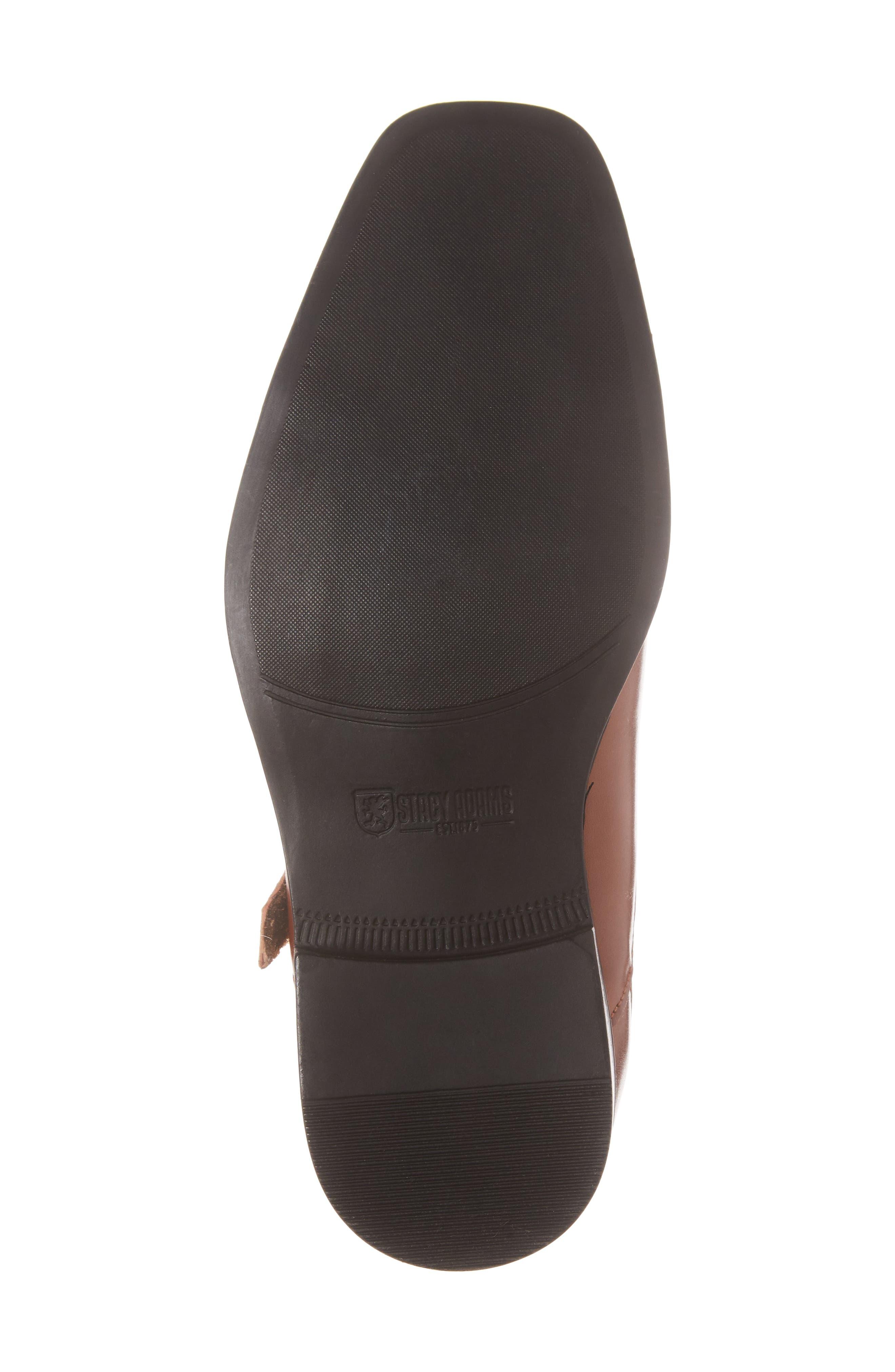 Trevor Cap Toe Monk Shoe,                             Alternate thumbnail 6, color,                             Cognac