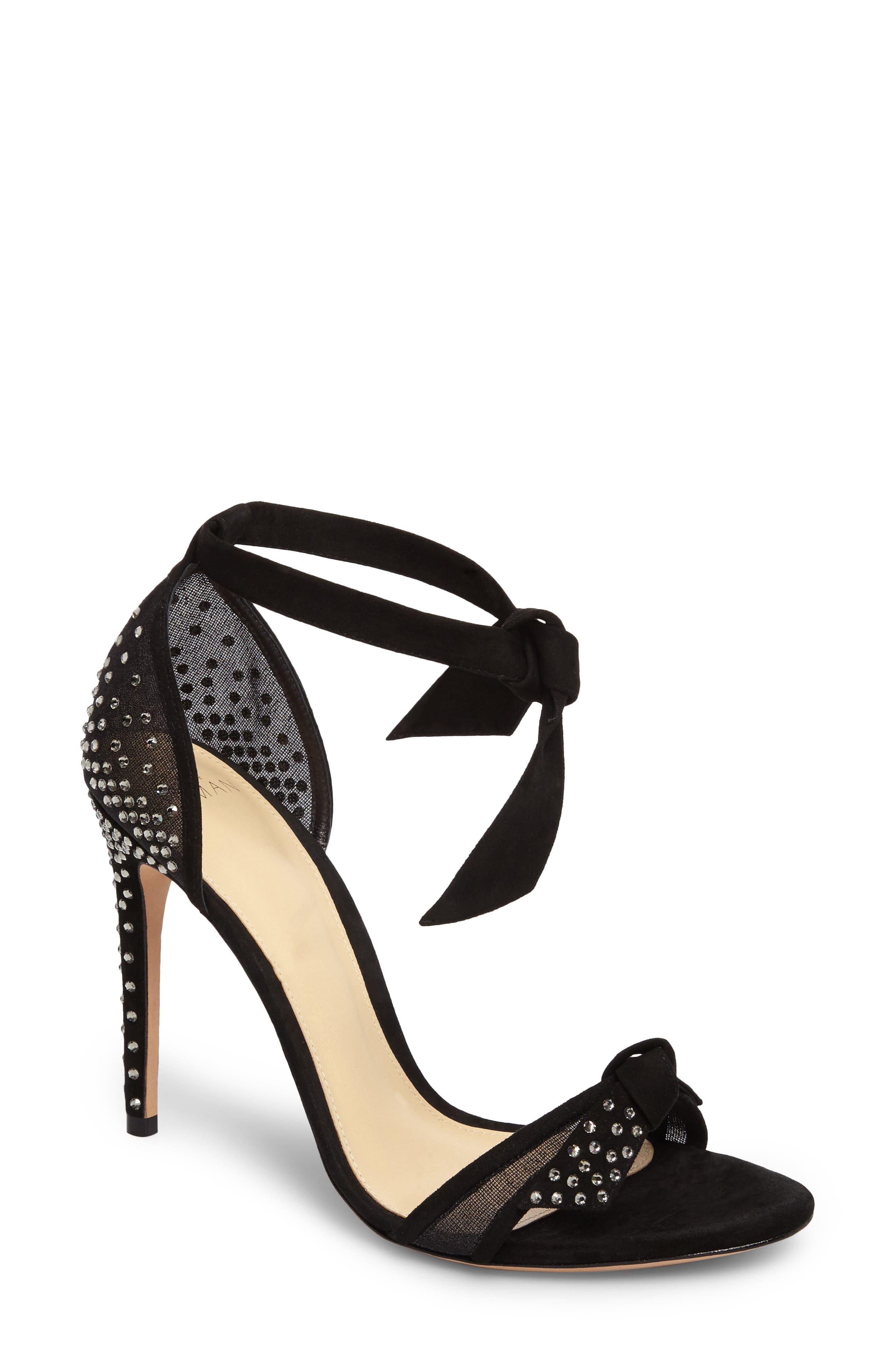 Clarita Stars Sandal,                             Main thumbnail 1, color,                             Black