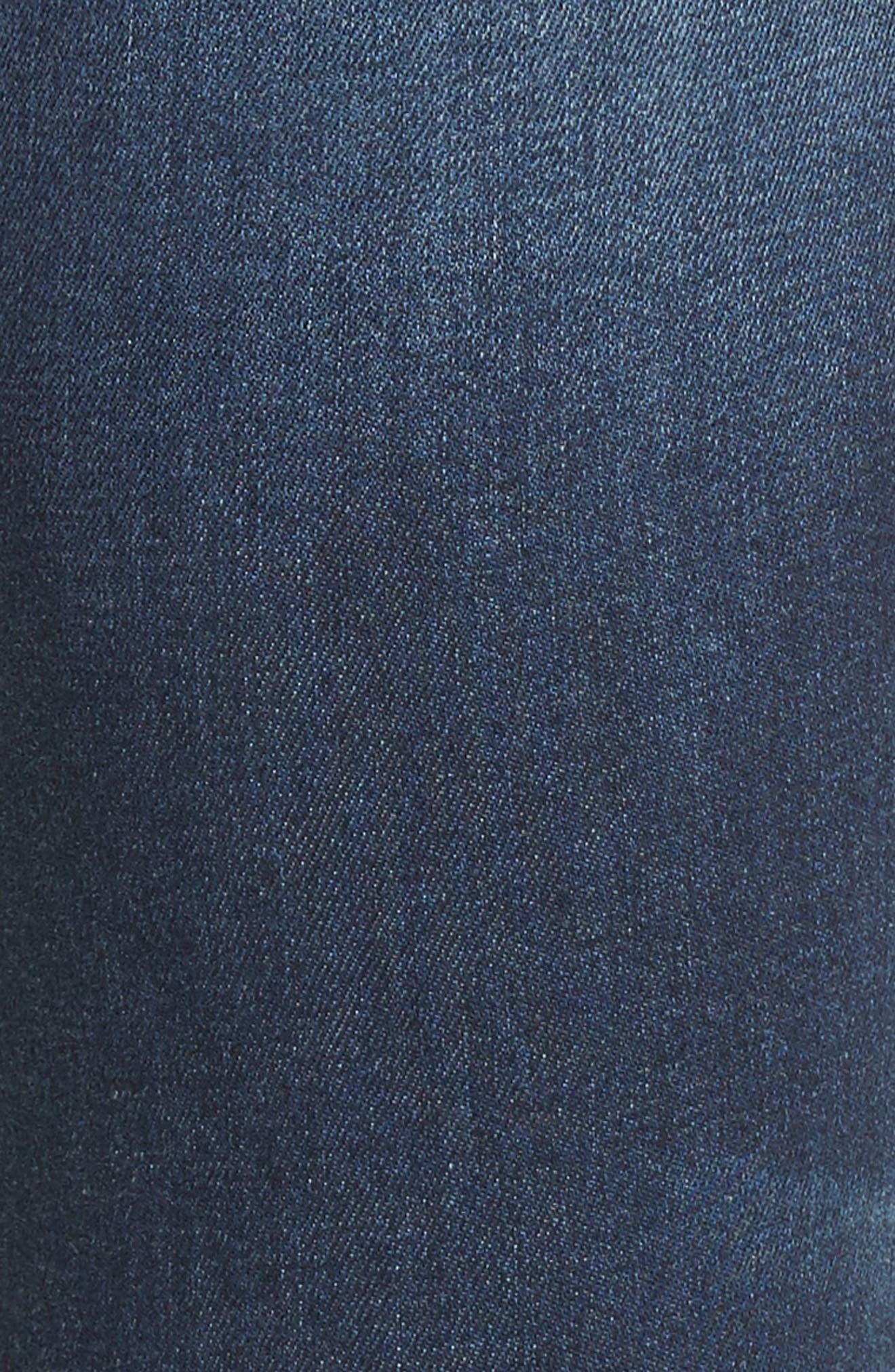 Jagger Distressed Skinny Jeans,                             Alternate thumbnail 5, color,                             Dark Wash