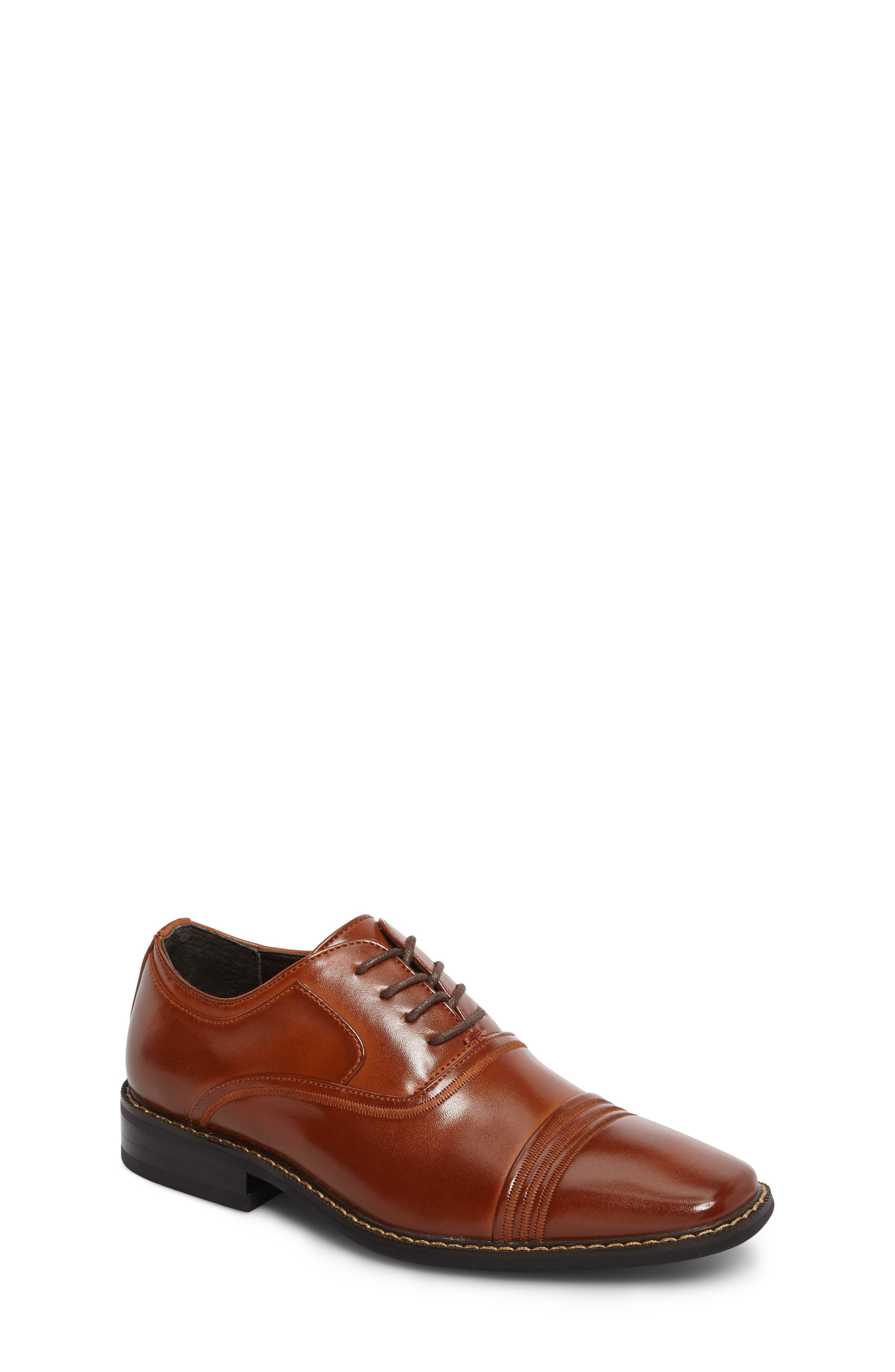 Alternate Image 1 Selected - Stacy Adams Bingham Cap Toe Oxford (Toddler, Little Kid & Big Kid)
