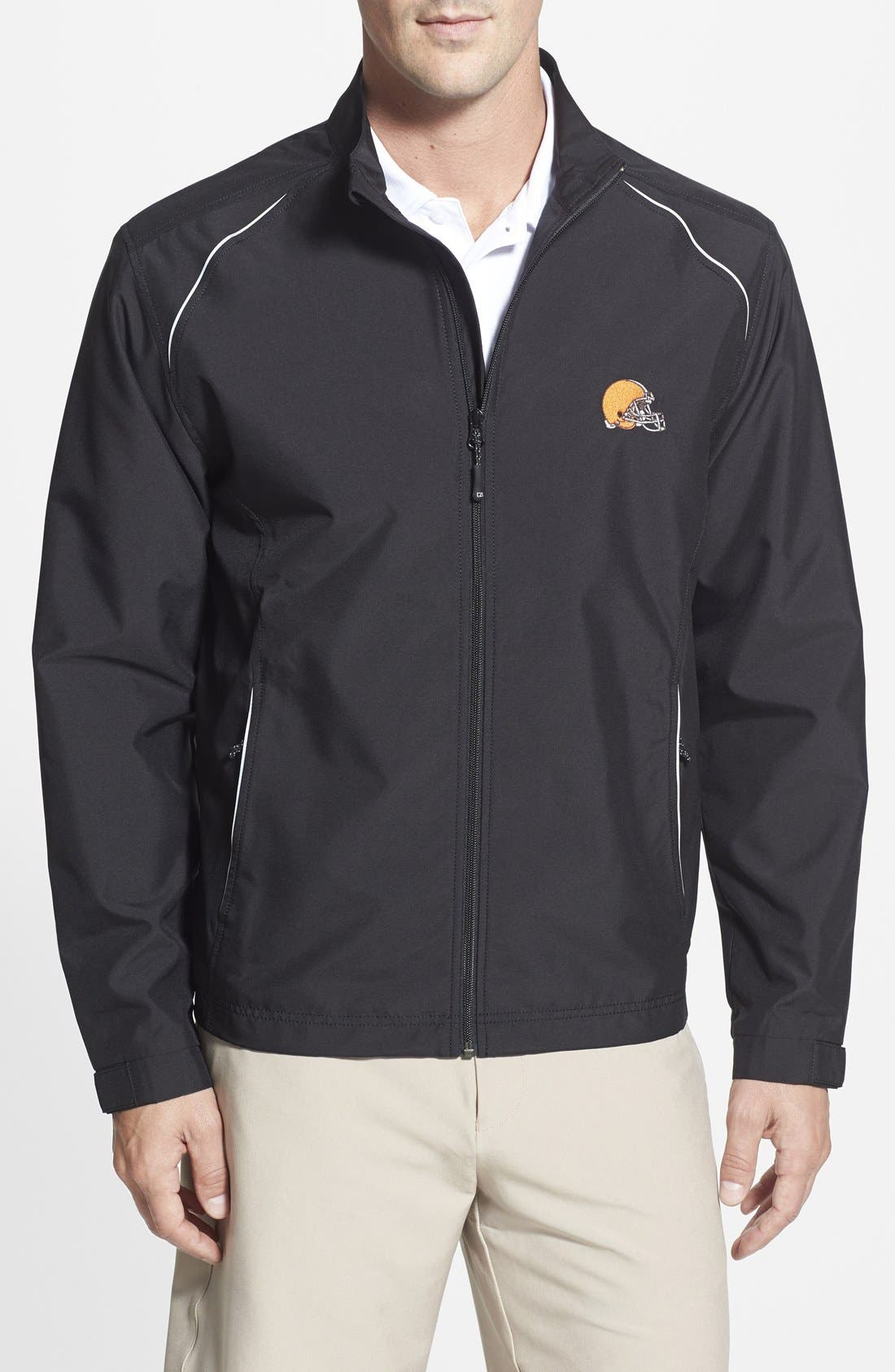 Cleveland Browns - Beacon WeatherTec Wind & Water Resistant Jacket,                             Main thumbnail 1, color,                             Black