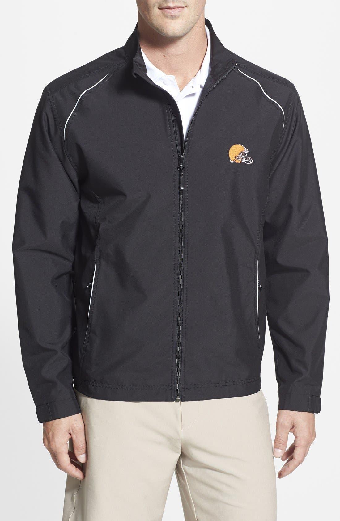 Cutter & Buck Cleveland Browns - Beacon WeatherTec Wind & Water Resistant Jacket