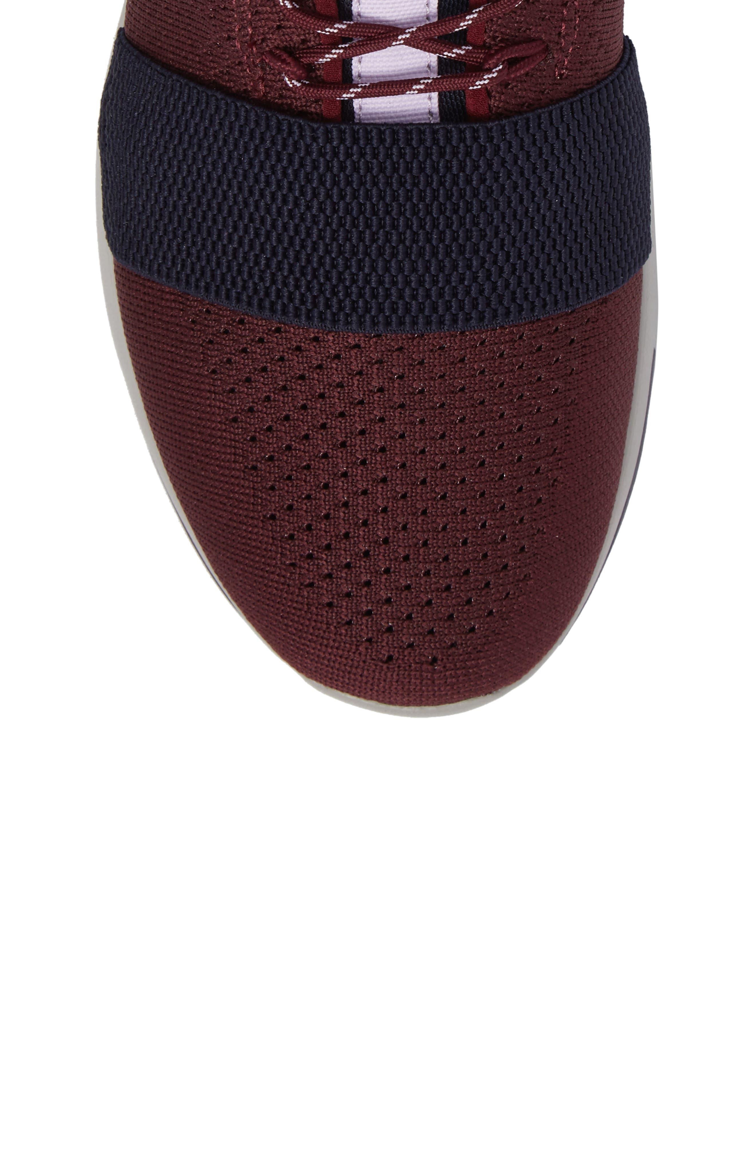 Modica Sneaker,                             Alternate thumbnail 5, color,                             Dark Burgundy Navy