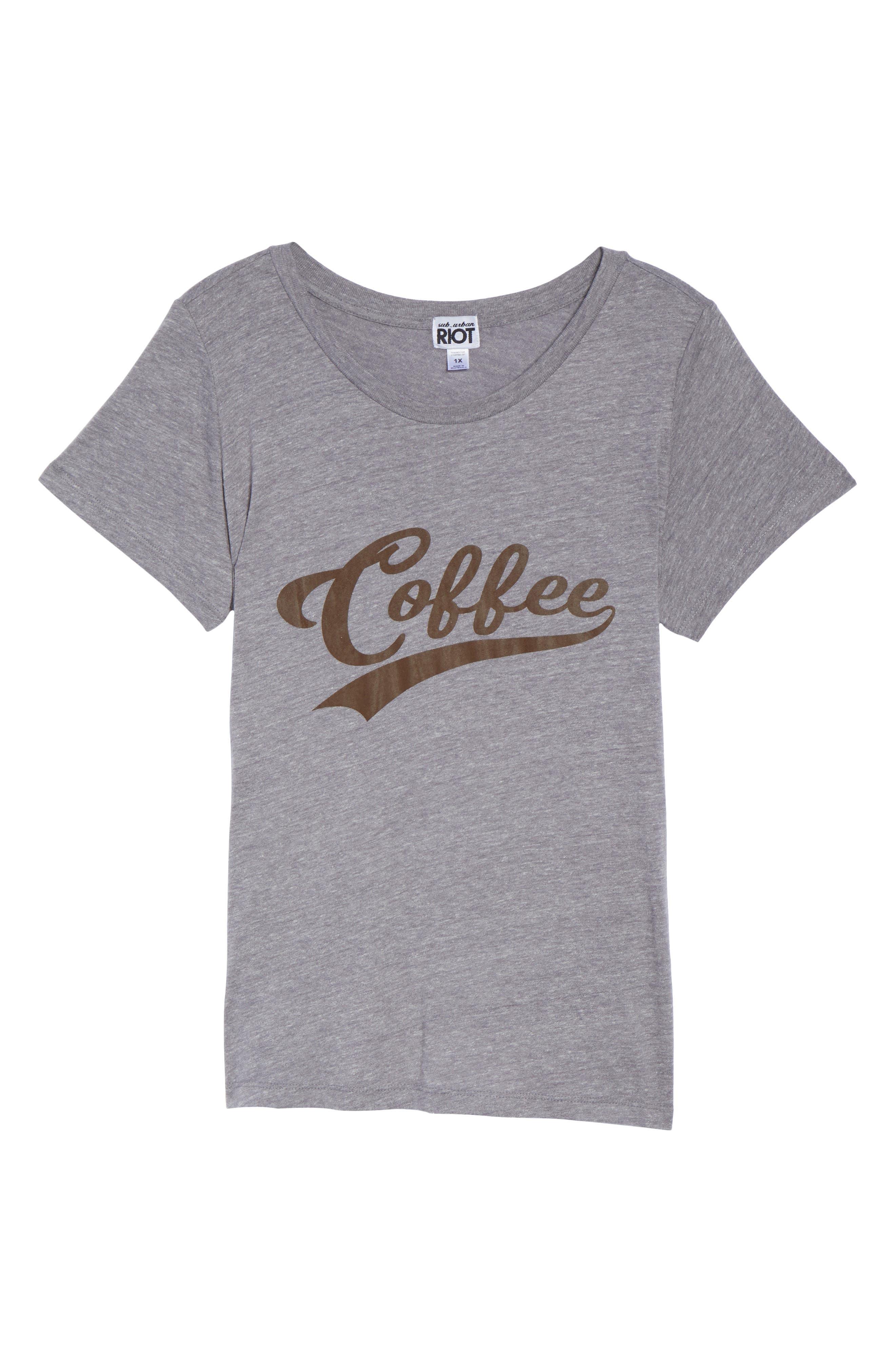 Alternate Image 6  - Sub_Urban Riot Coffee Graphic Tee (Plus Size)
