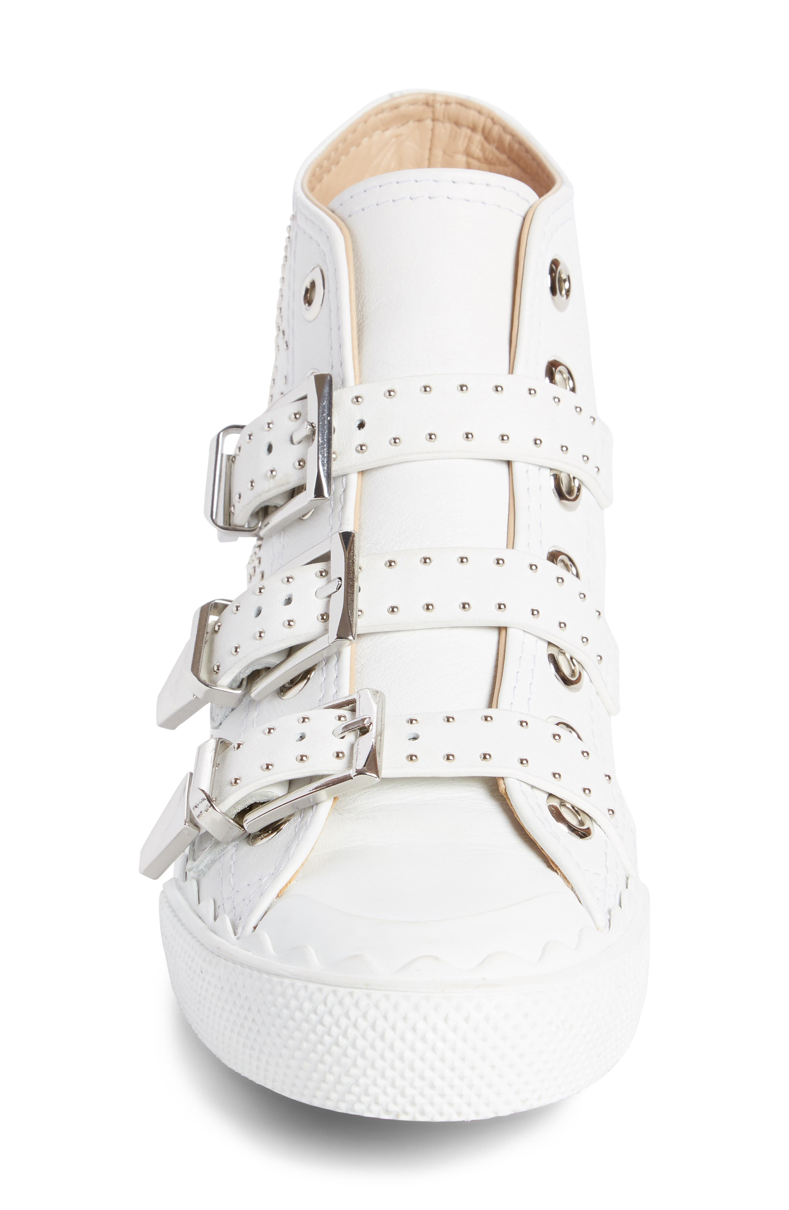 Alternate Image 3  - Chloé Kyle Stud Buckle High Top Sneaker (Women)
