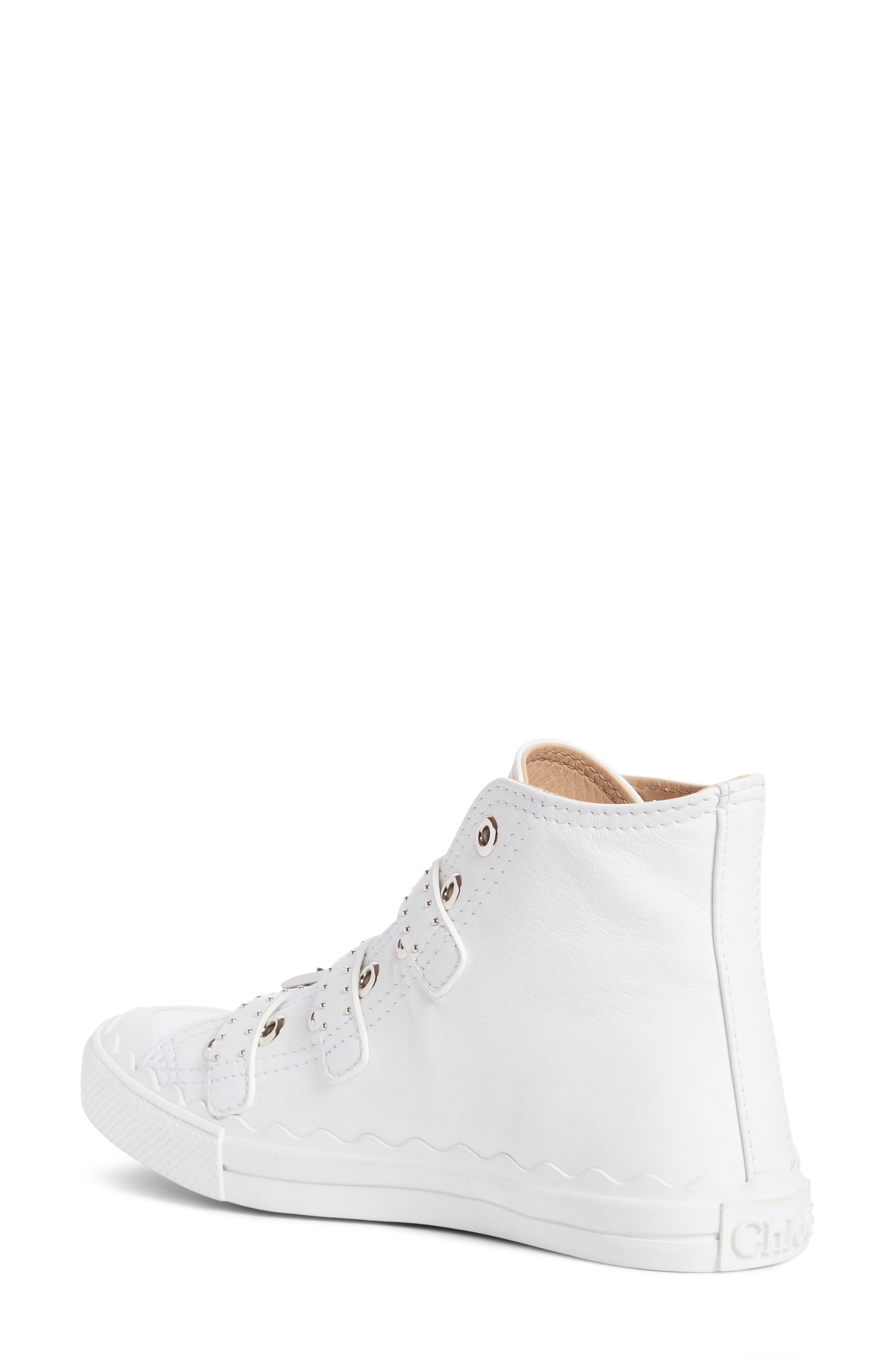 Alternate Image 2  - Chloé Kyle Stud Buckle High Top Sneaker (Women)