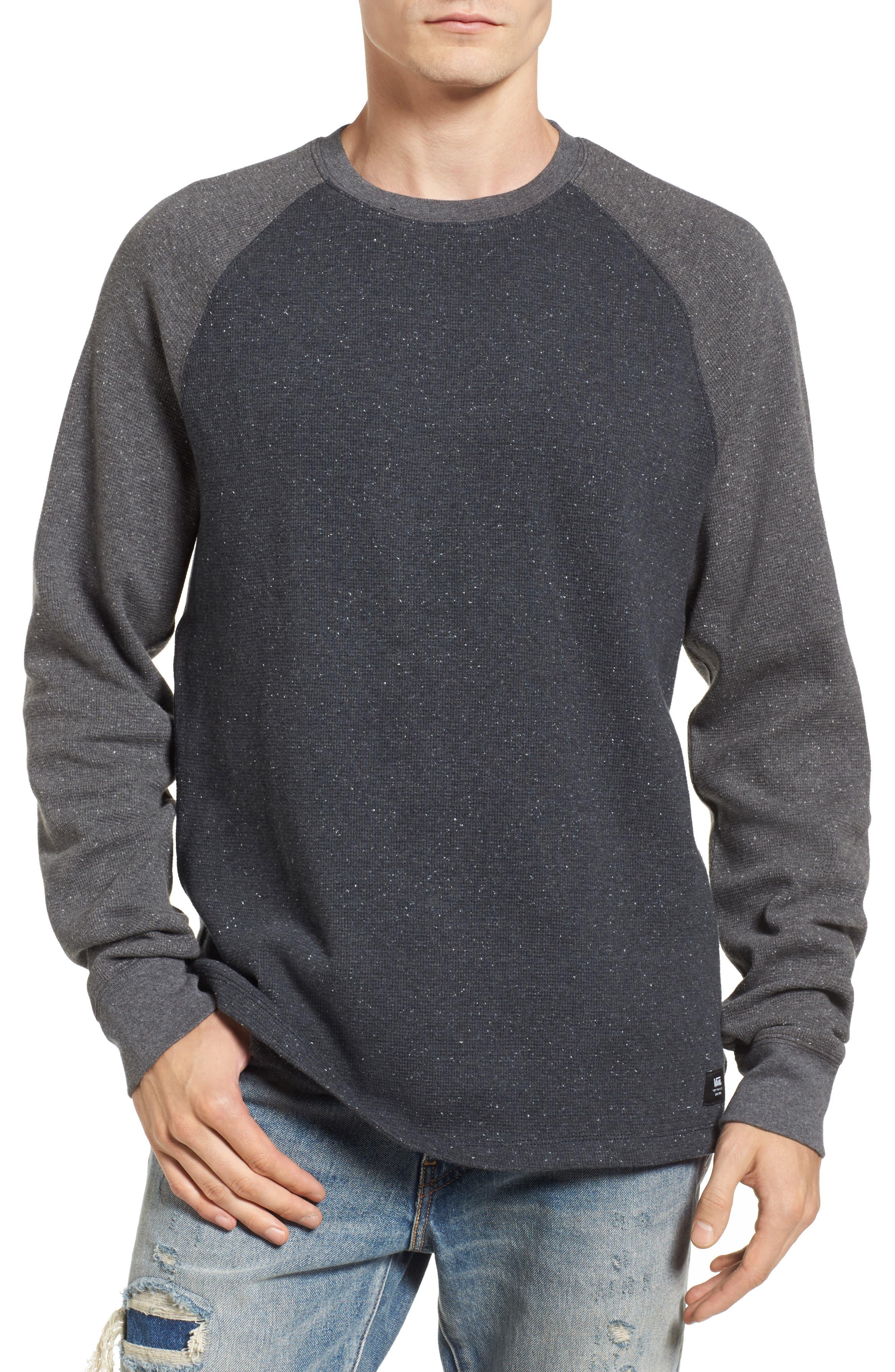 Burdett Thermal T-Shirt,                         Main,                         color, Black Heather
