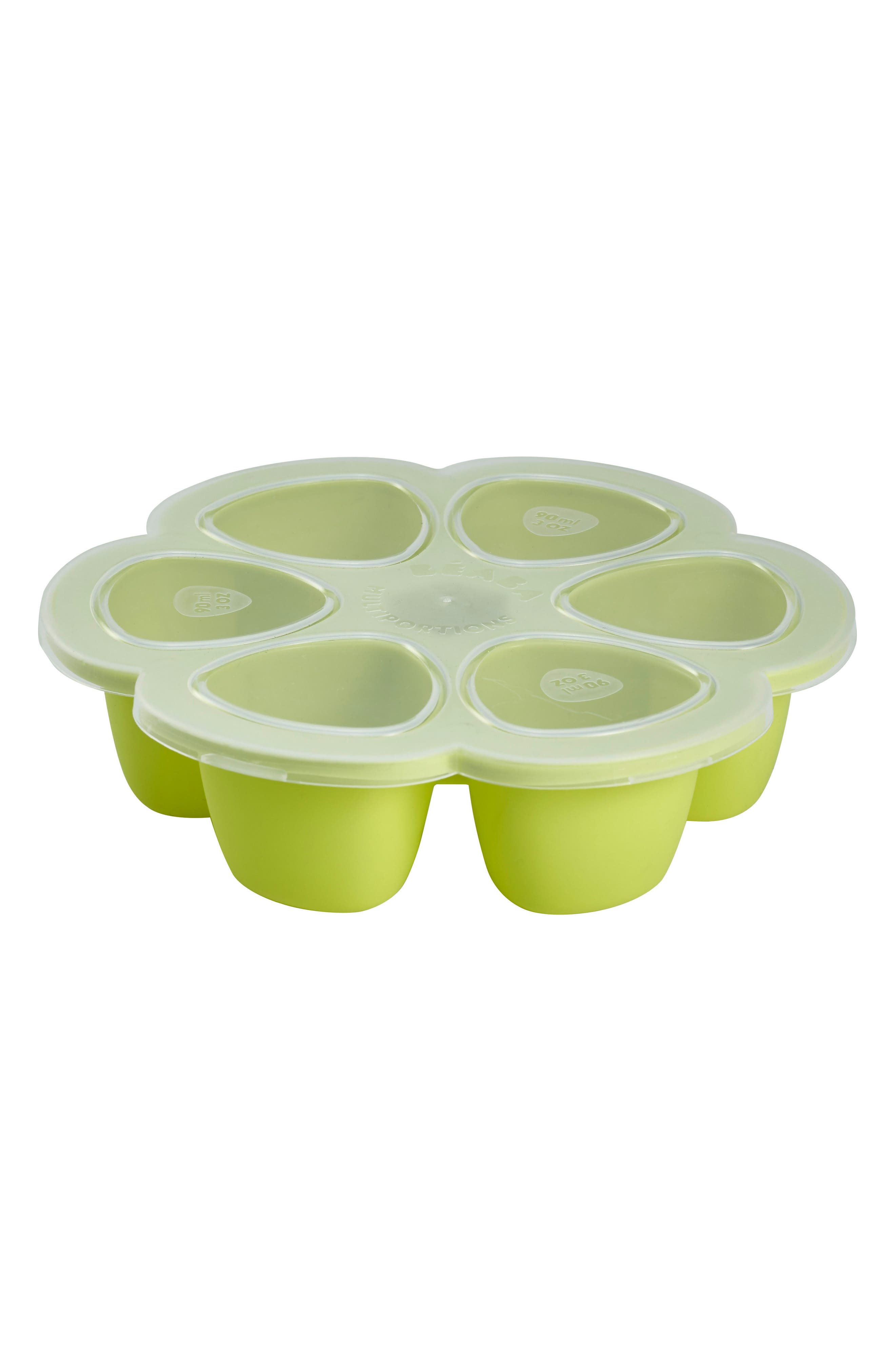 'Multiportions<sup>™</sup>' Silicone 5 oz. Food Cup Tray,                             Main thumbnail 1, color,                             Neon