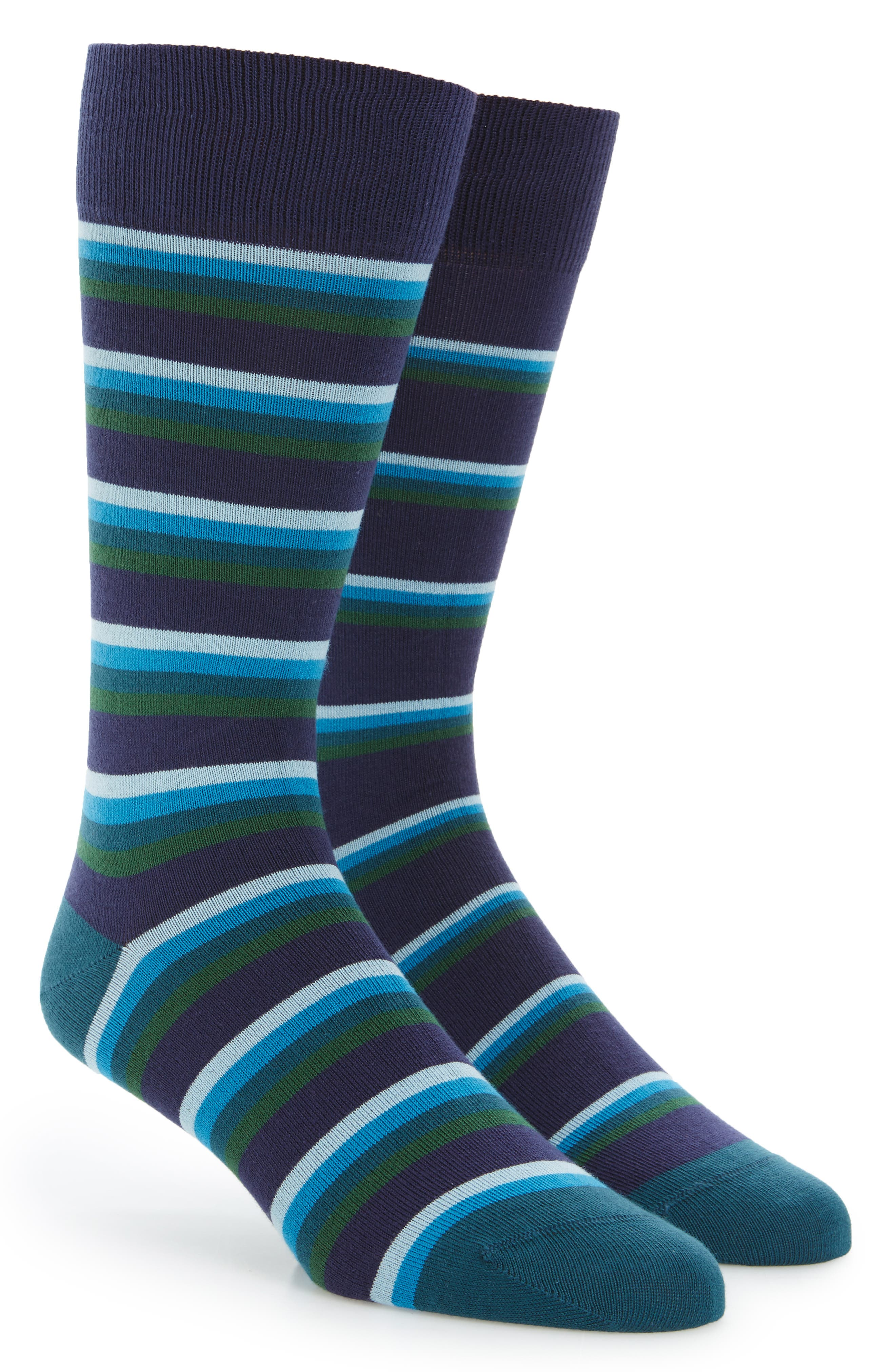 Stripe Socks,                             Main thumbnail 1, color,                             Blue/ Green