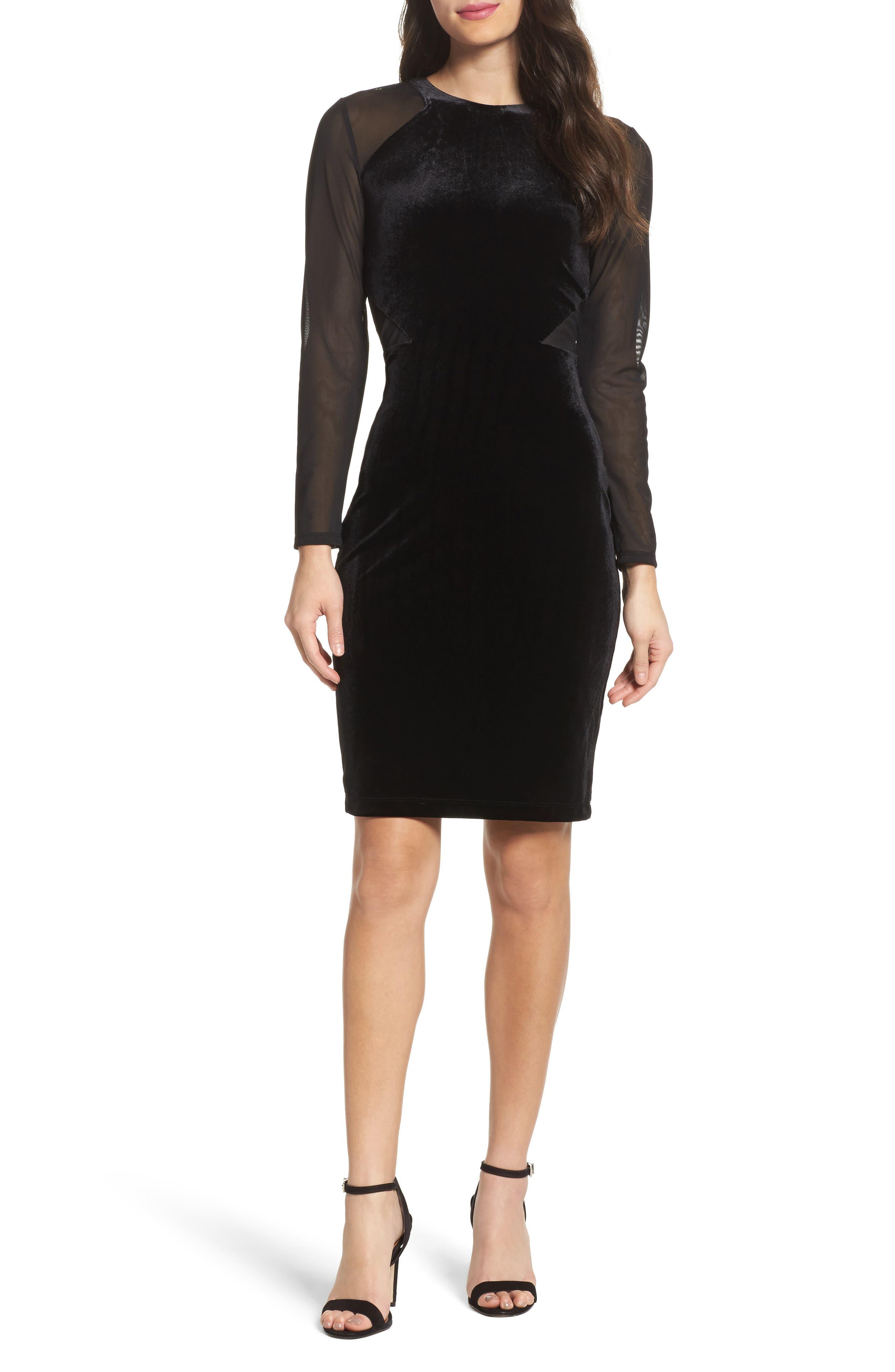 Aurore Body-Con Dress,                         Main,                         color, Black