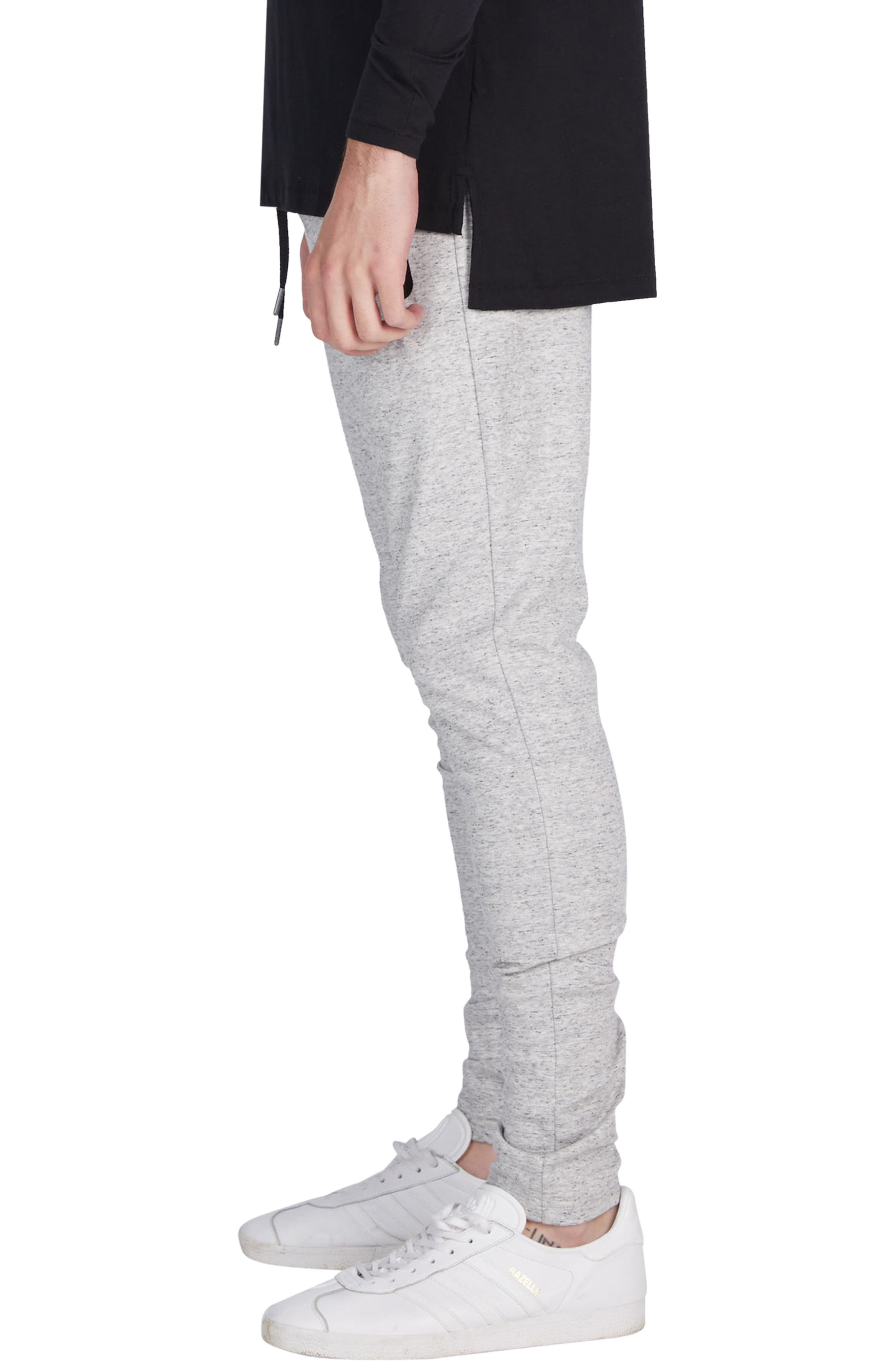 'Cling Ponte' Jogger Pants,                             Alternate thumbnail 3, color,                             Storm Marle